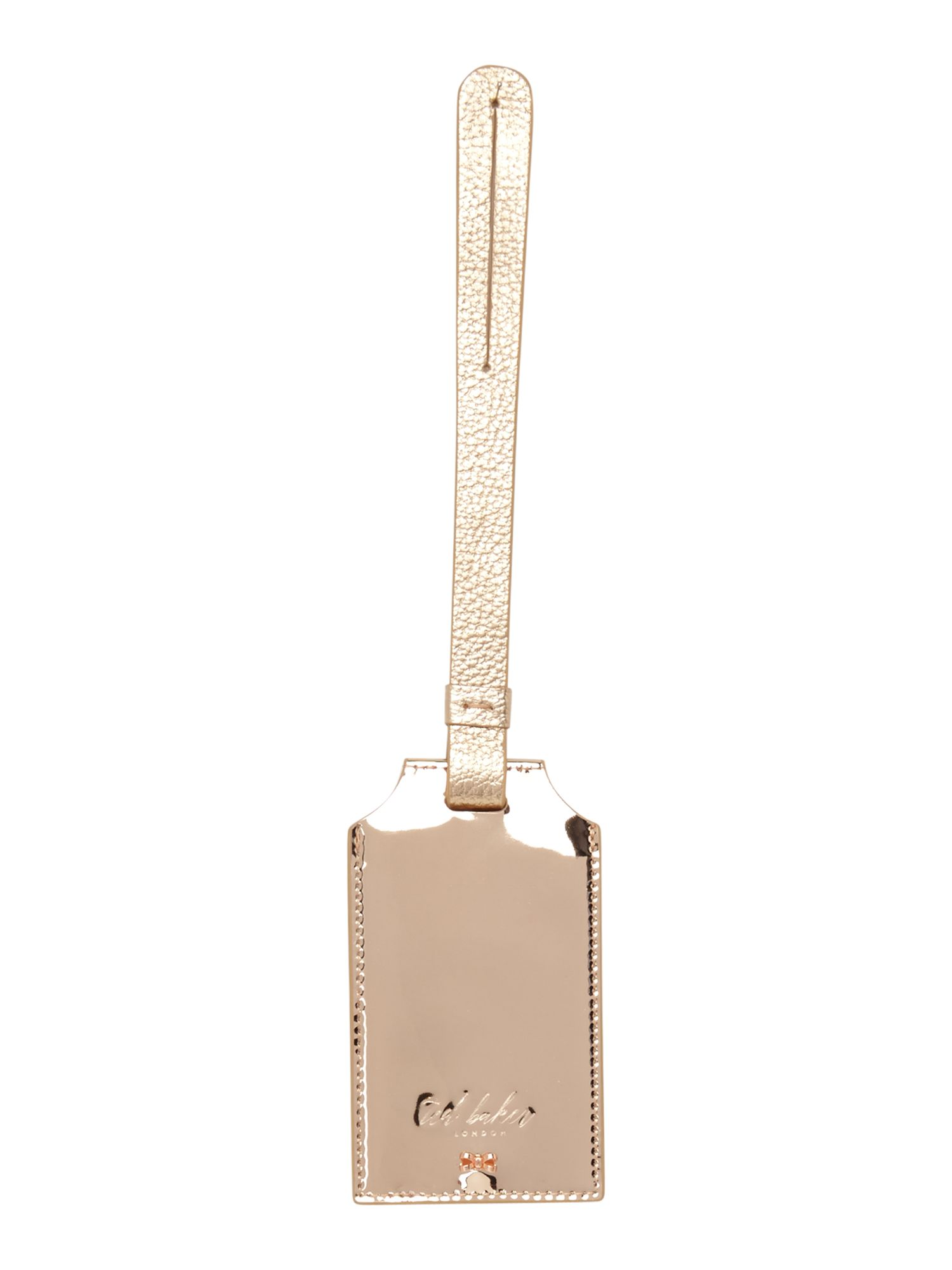 Ted Baker Kelsiee bow luggage tag, Rose Gold