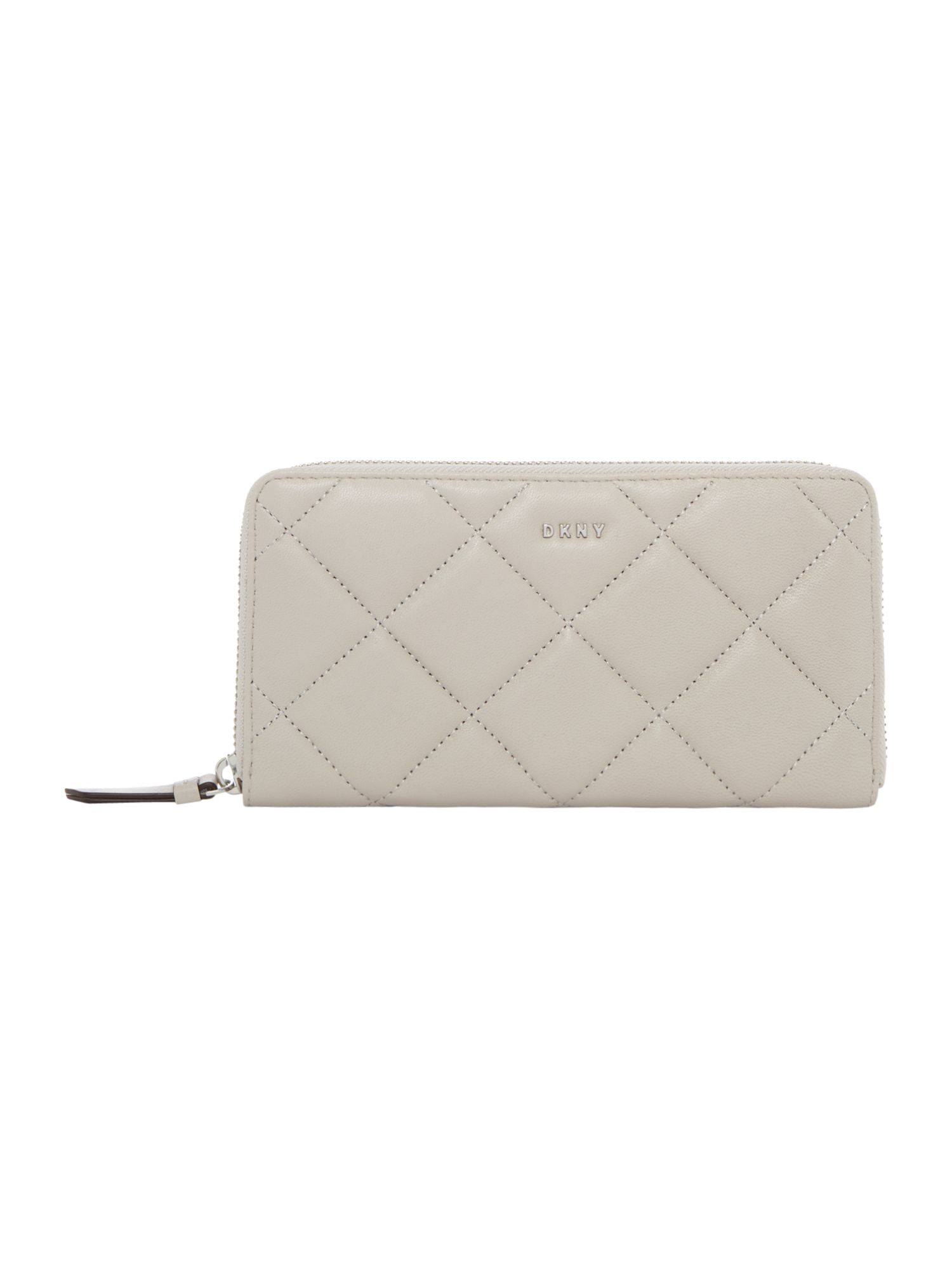 DKNY Barbara large zip around purse, Light Grey