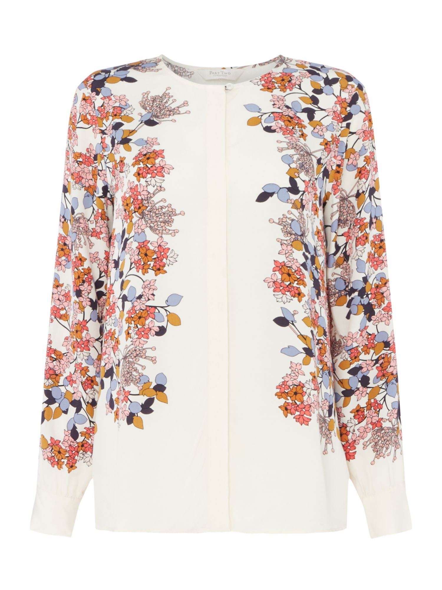 Part Two Kia floral side blouse, Multi-Coloured