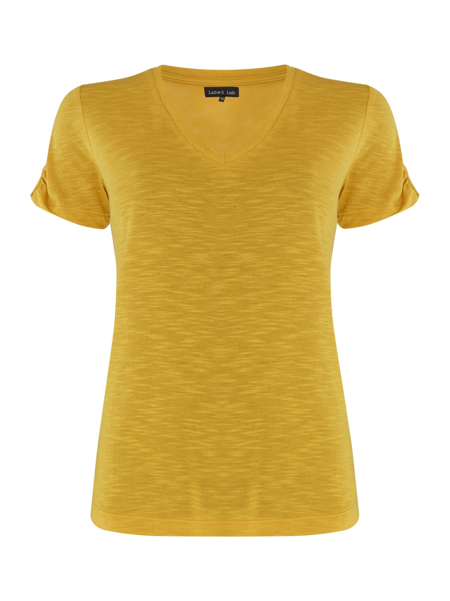 Label Lab Bea tab detail tee, Chartreuse