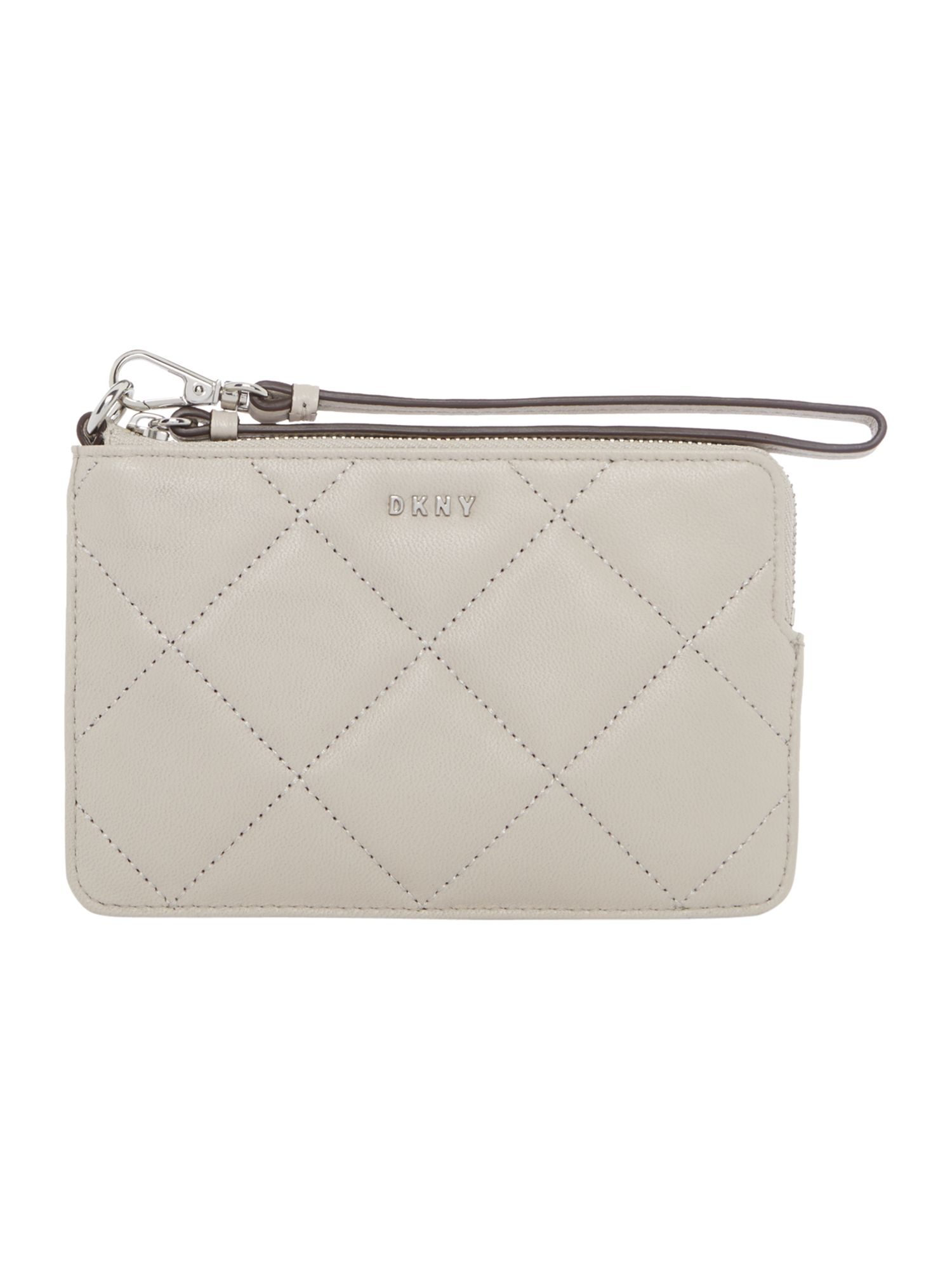 DKNY Barbara small zip around purse, Light Grey