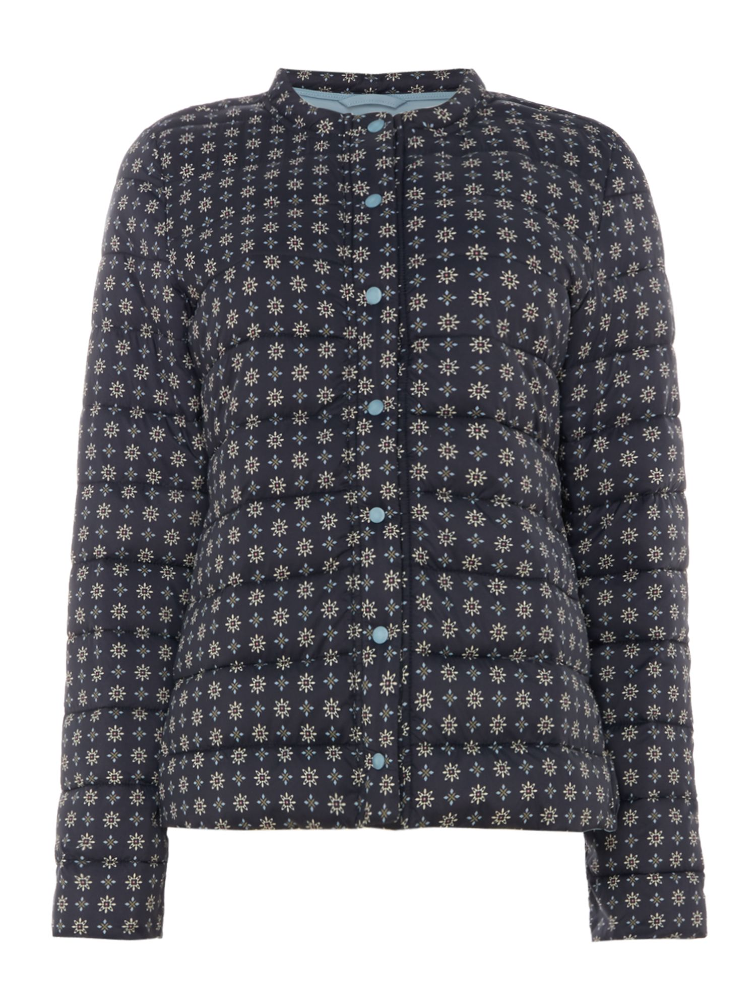 Part Two Kivala patterned quilted coat, Blue