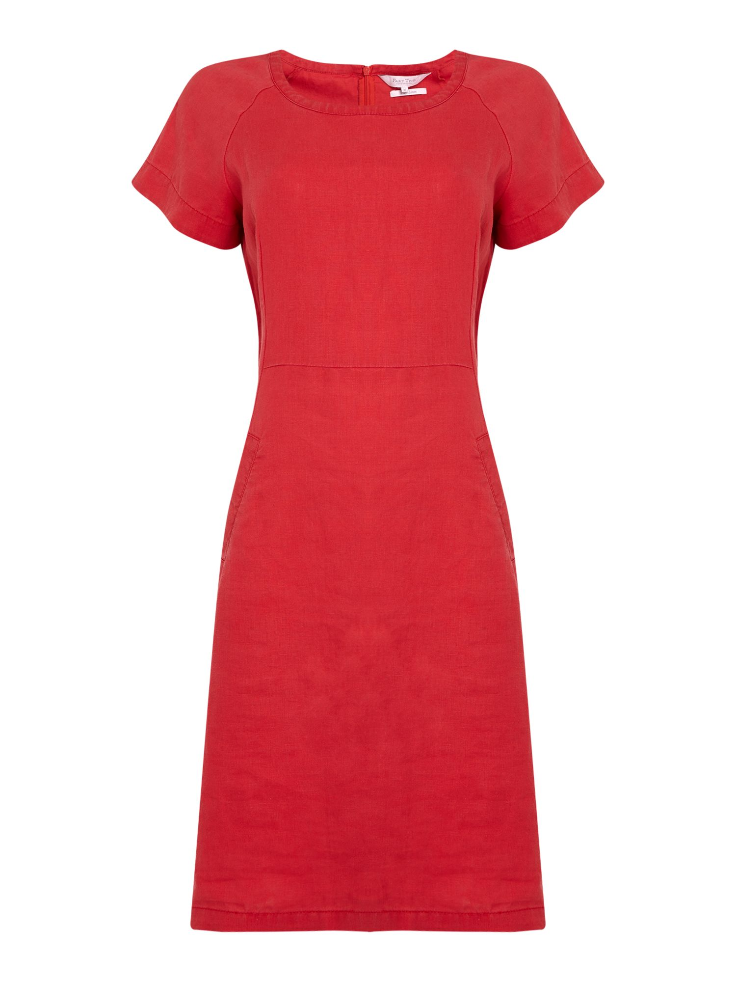 Part Two Aundreas pocket detail dress, Red