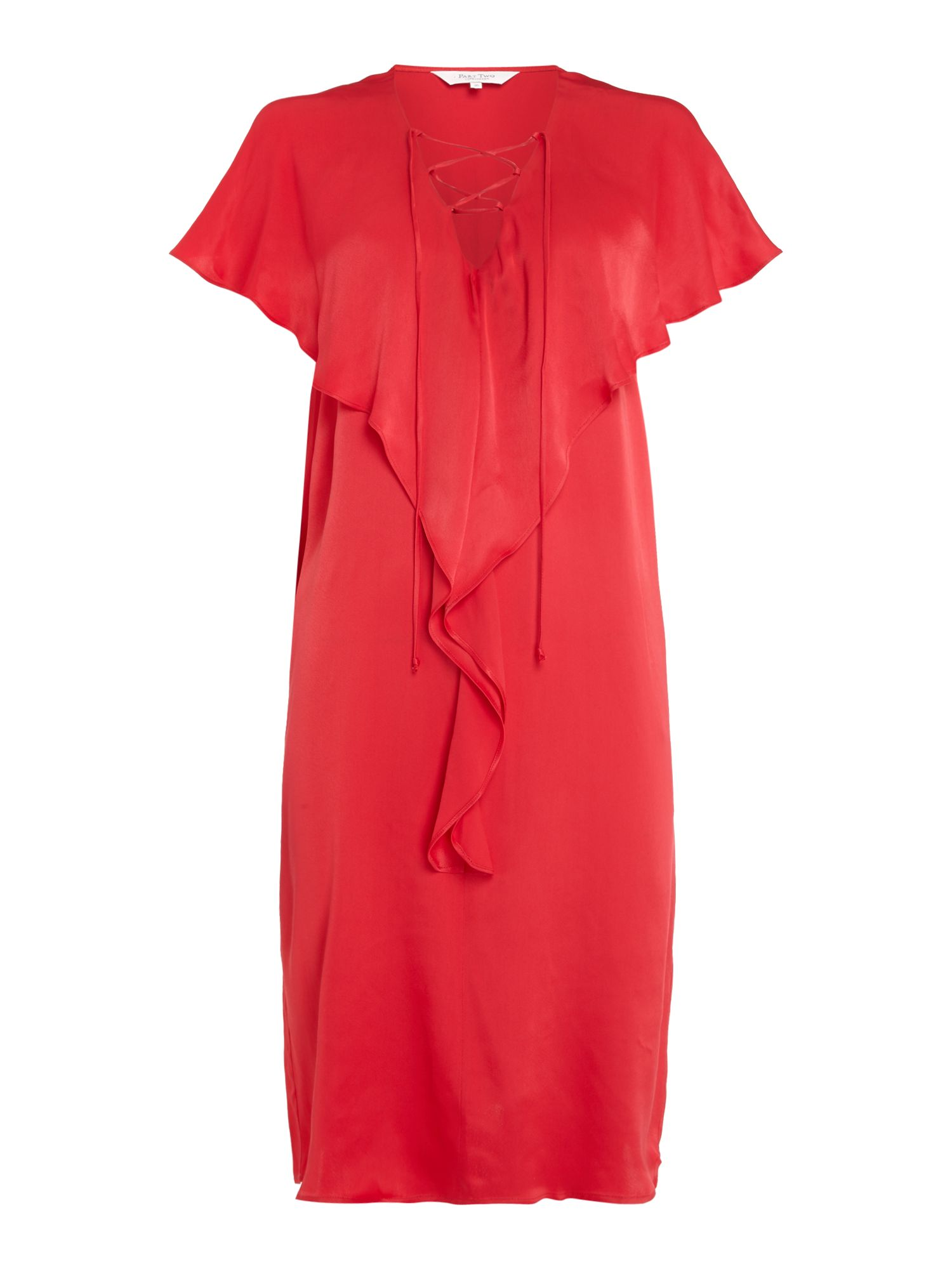 Part Two Kelly frill detail dress, Red