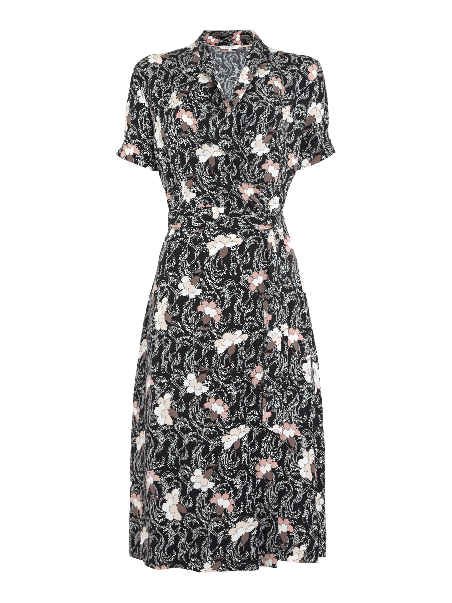Part Two Kaisa patterned tie dress, Black