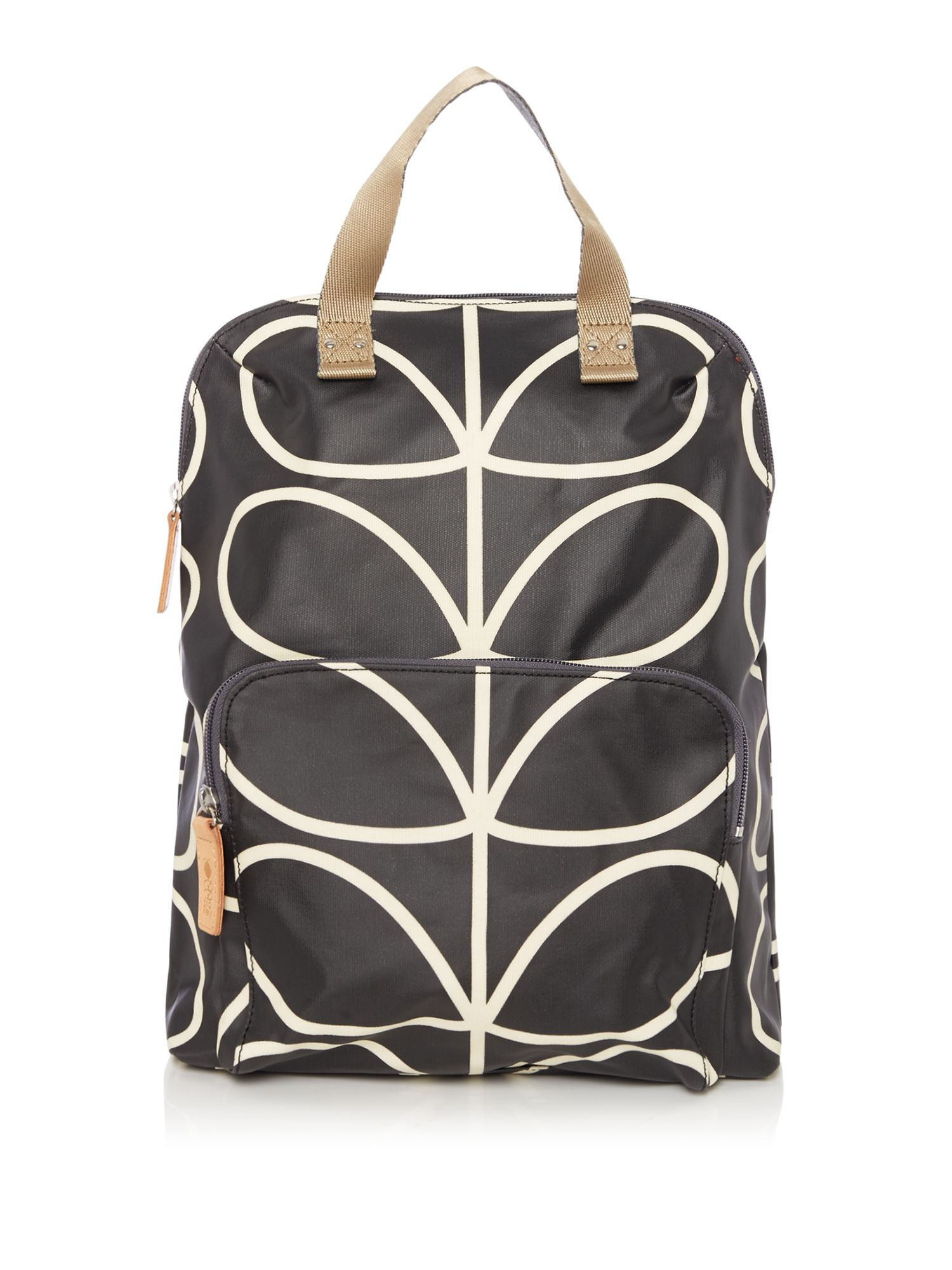 Orla Kiely Backpack tote, Black