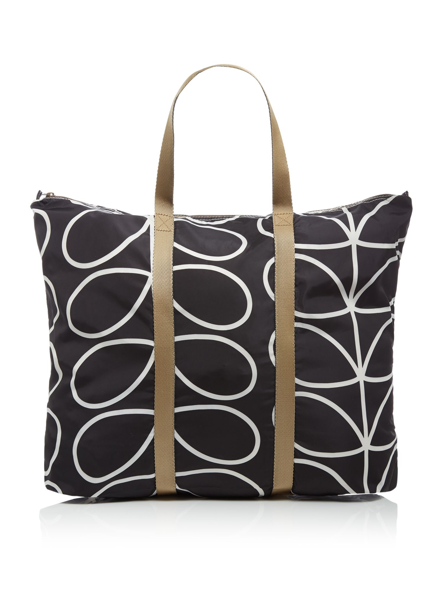 Orla Kiely Foldaway travel bag, Black
