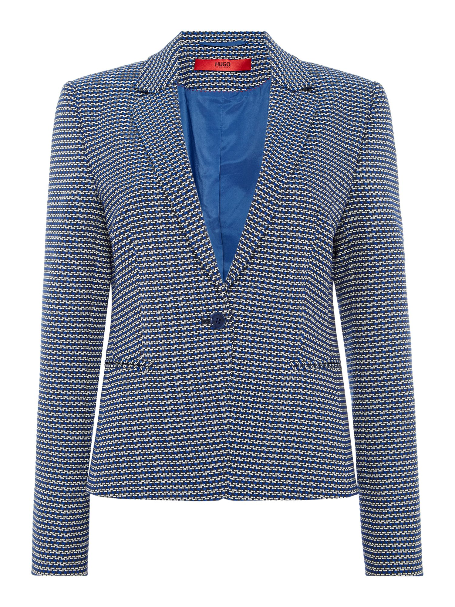 Hugo Asima textured stripe jacket, Grey