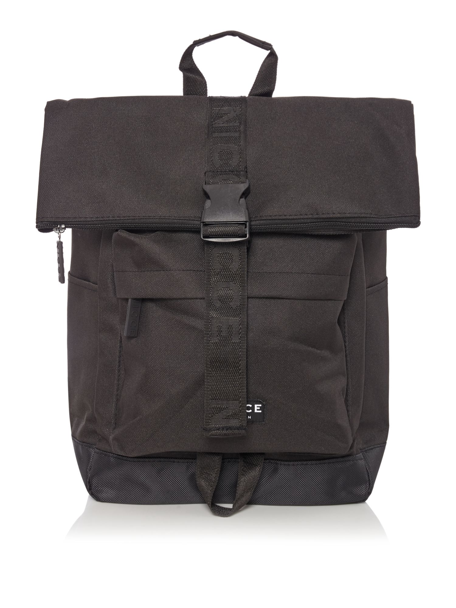 Nicce Roll Top Backpack, Black