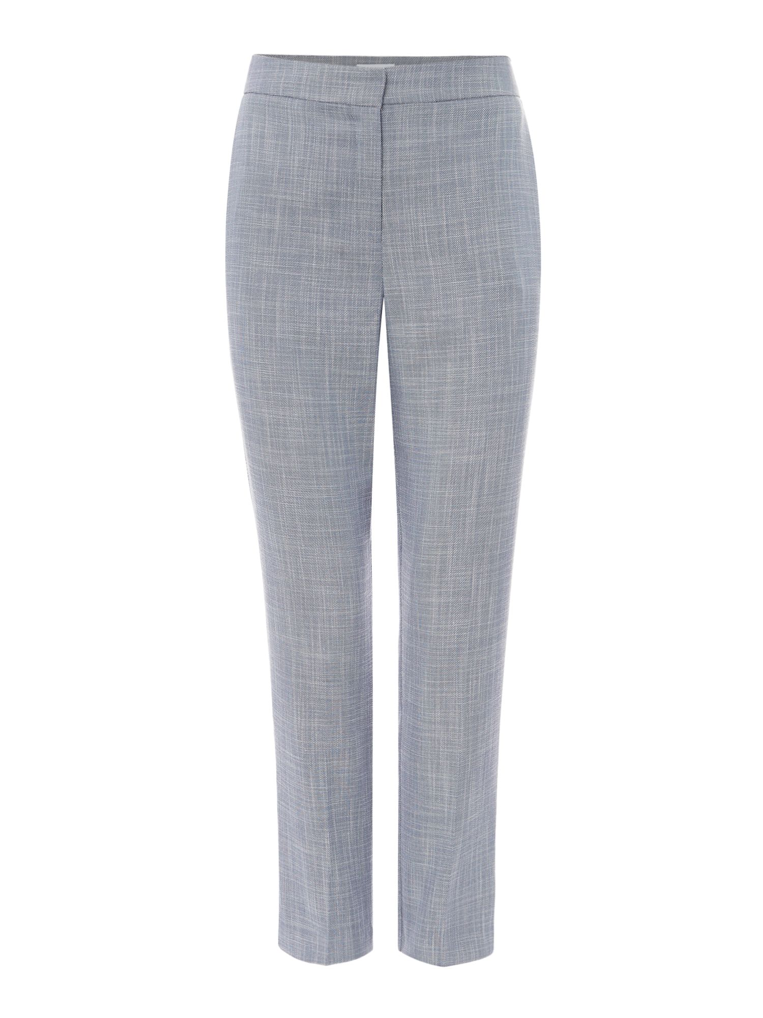 Linea Blue textured cigarette trousers, Blue