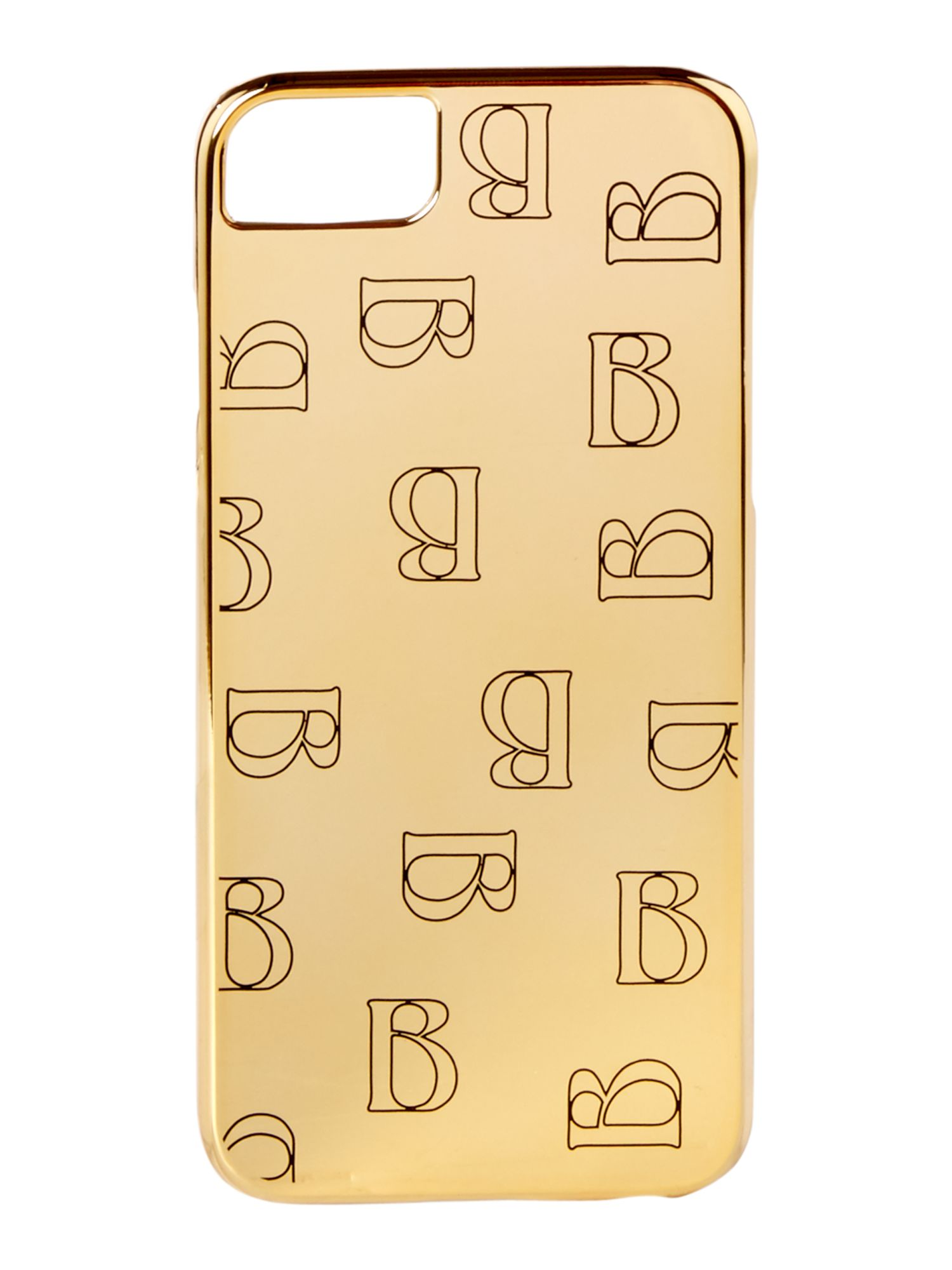 Biba B logo iPhone 66s78 case, Gold