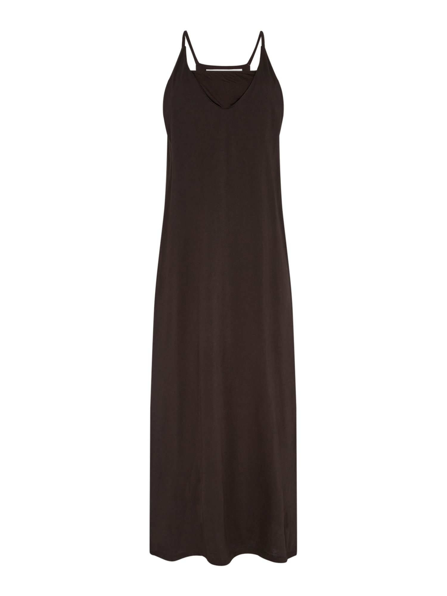 Replay Sleeveless Jersey Midi Dress, Jet