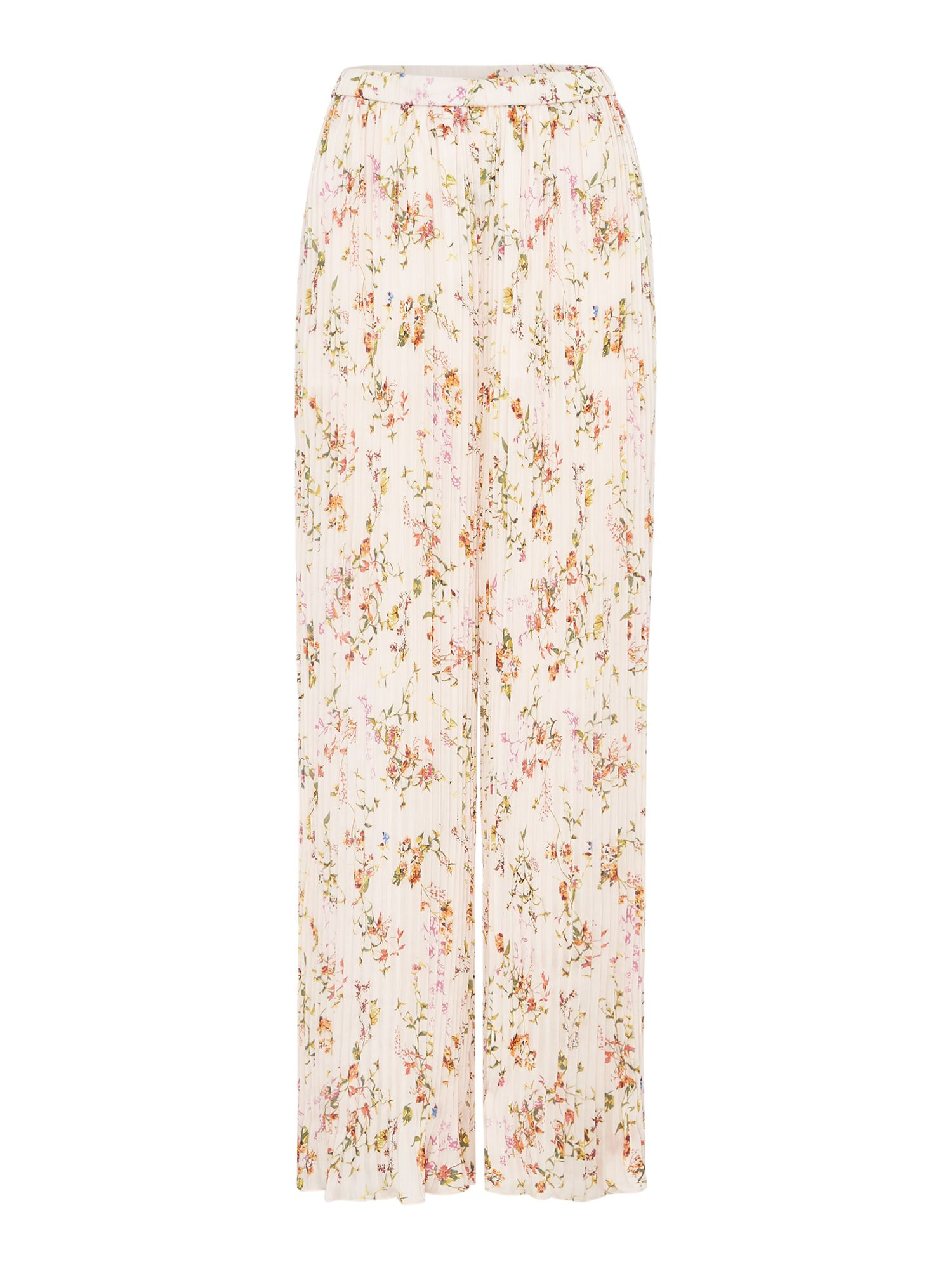 Replay Pleated Floral-Print Culottes, Multi-Coloured