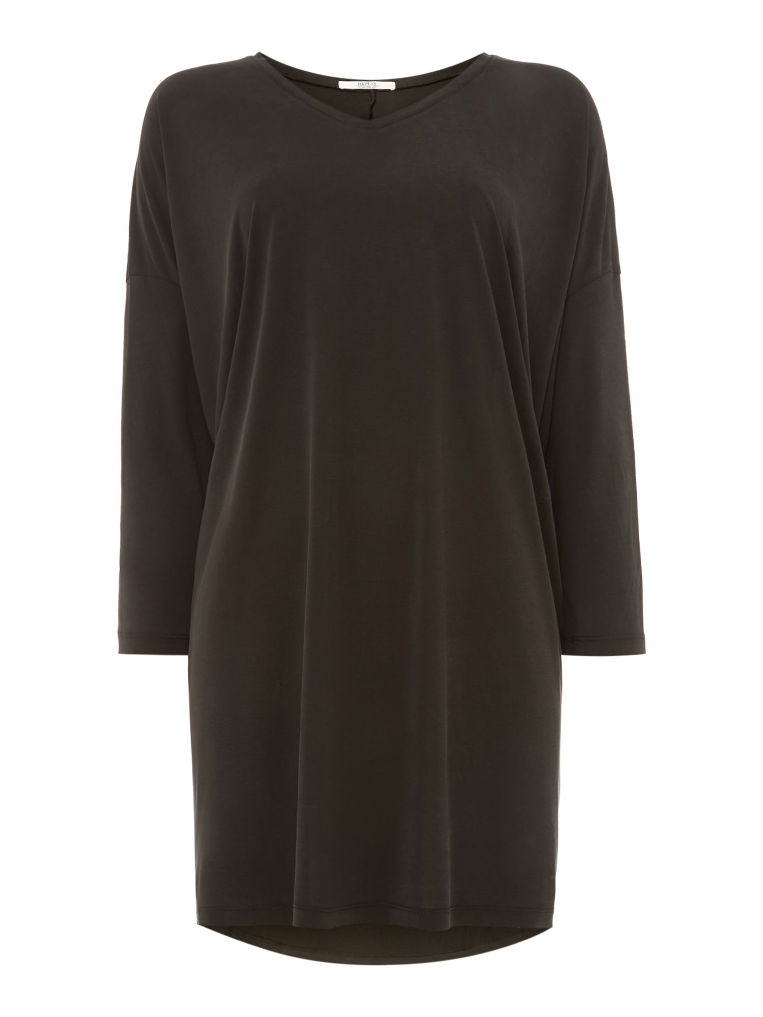 Replay Stretch Modal Jersey Dress, Nearly Black