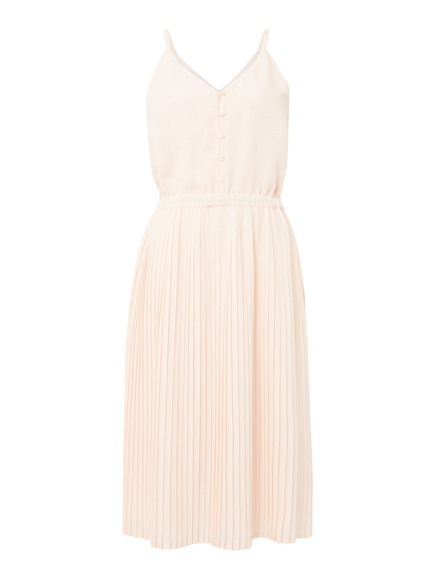Sessun Lisbon pleated strapy dress, Pink