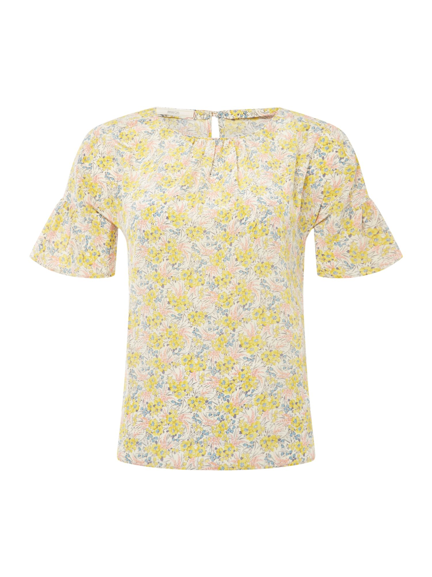 Sessun Maia Short Sleeve floral blouse, Multi-Coloured