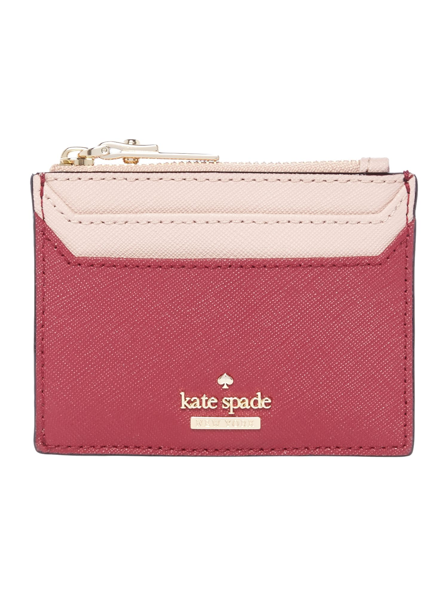 Kate Spade New York Cameron street lalena card zip around, Red
