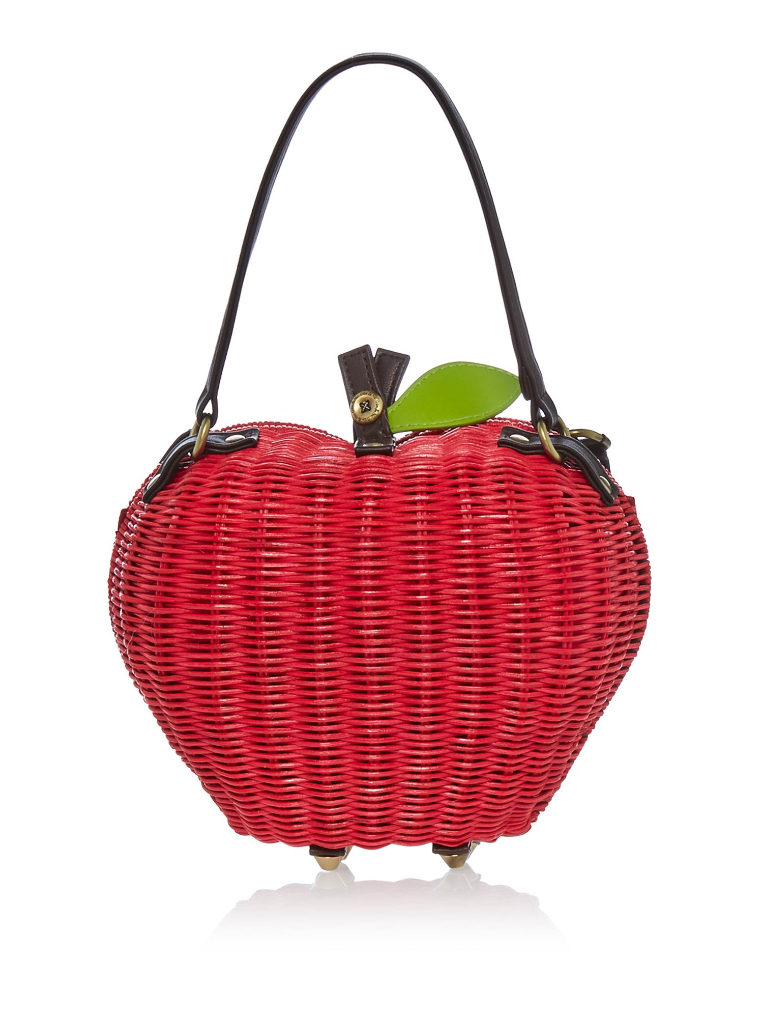 Ollie & Nic Apple Bag, Red