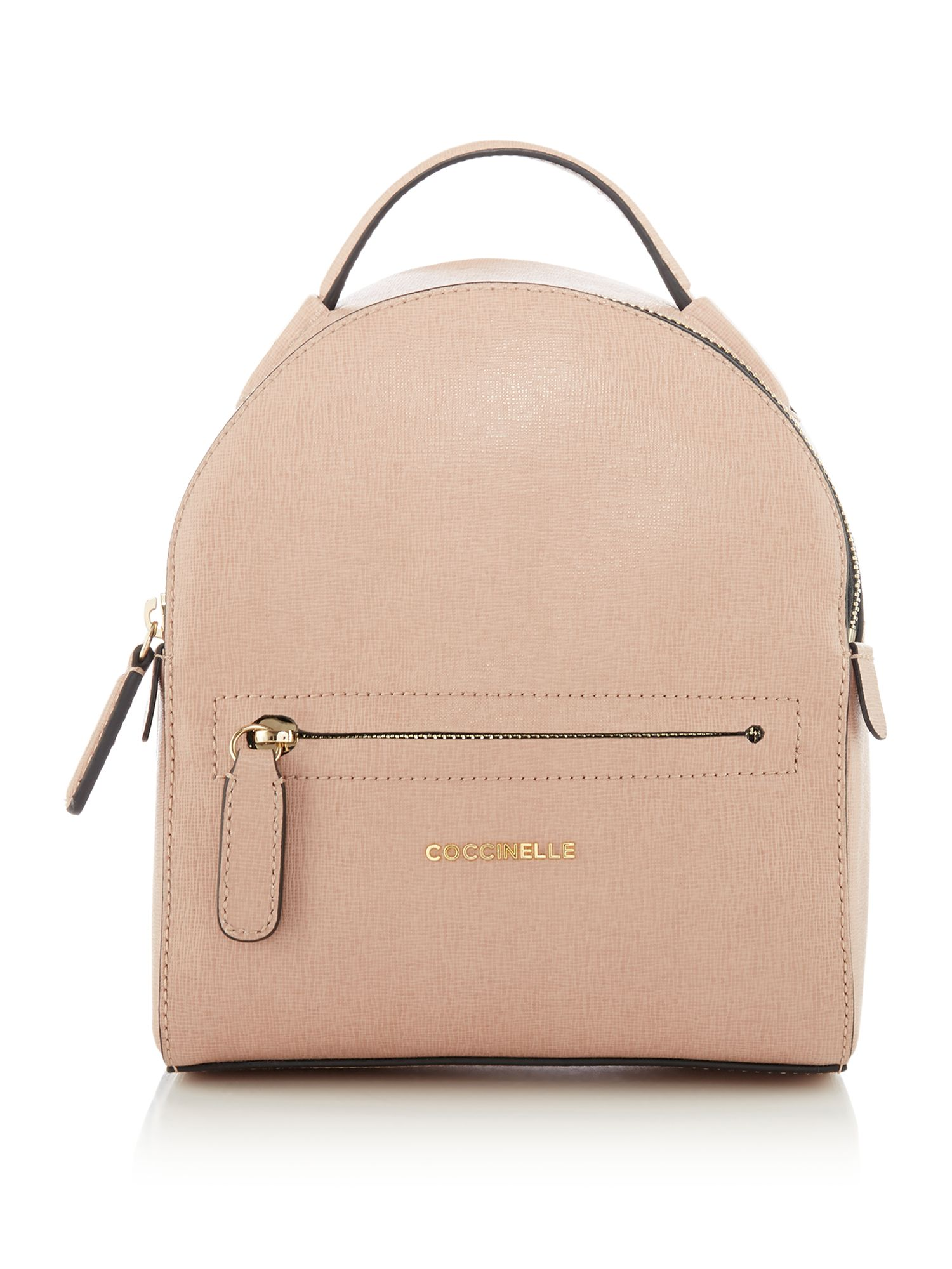 Coccinelle Clementine saffiano mini backpack, Pink