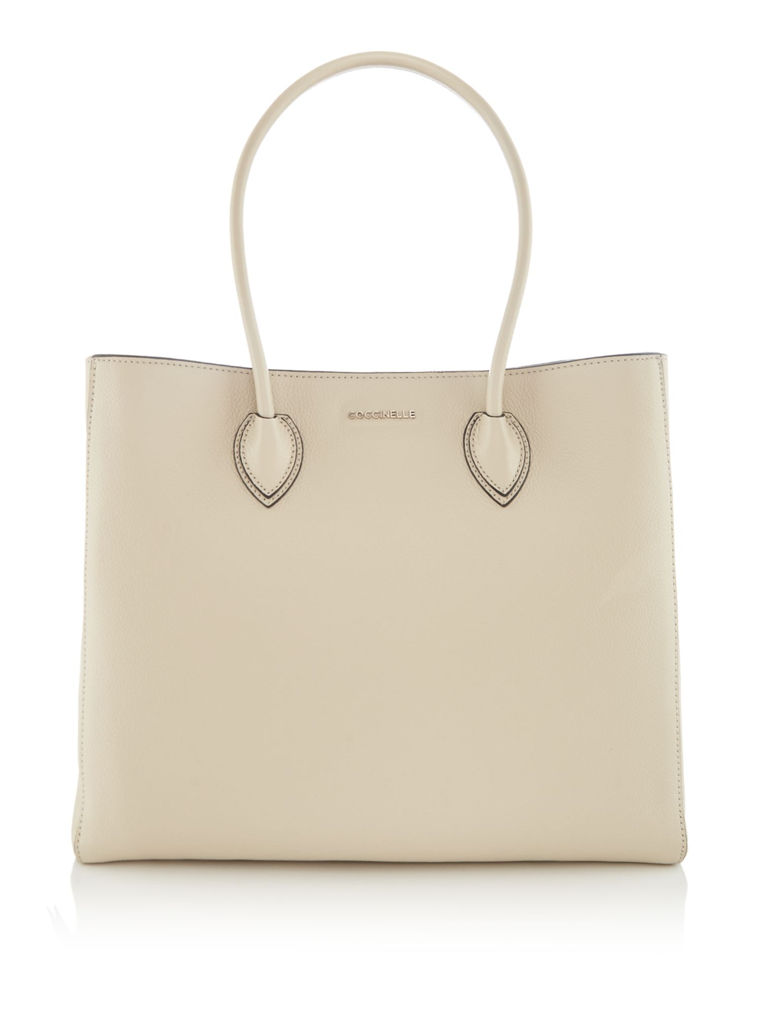 Coccinelle Farisa soft leather east west tote, Neutral