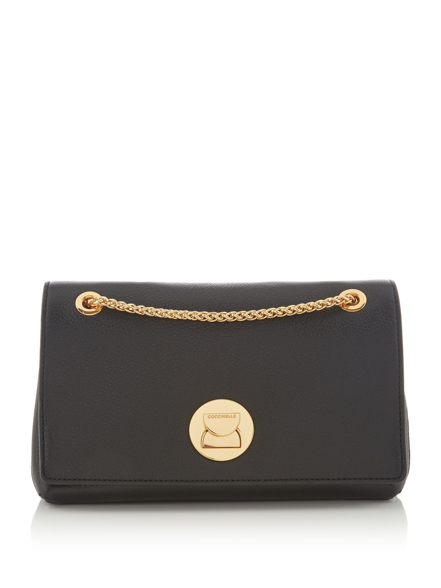 Coccinelle Liya small chain cross body bag, Black