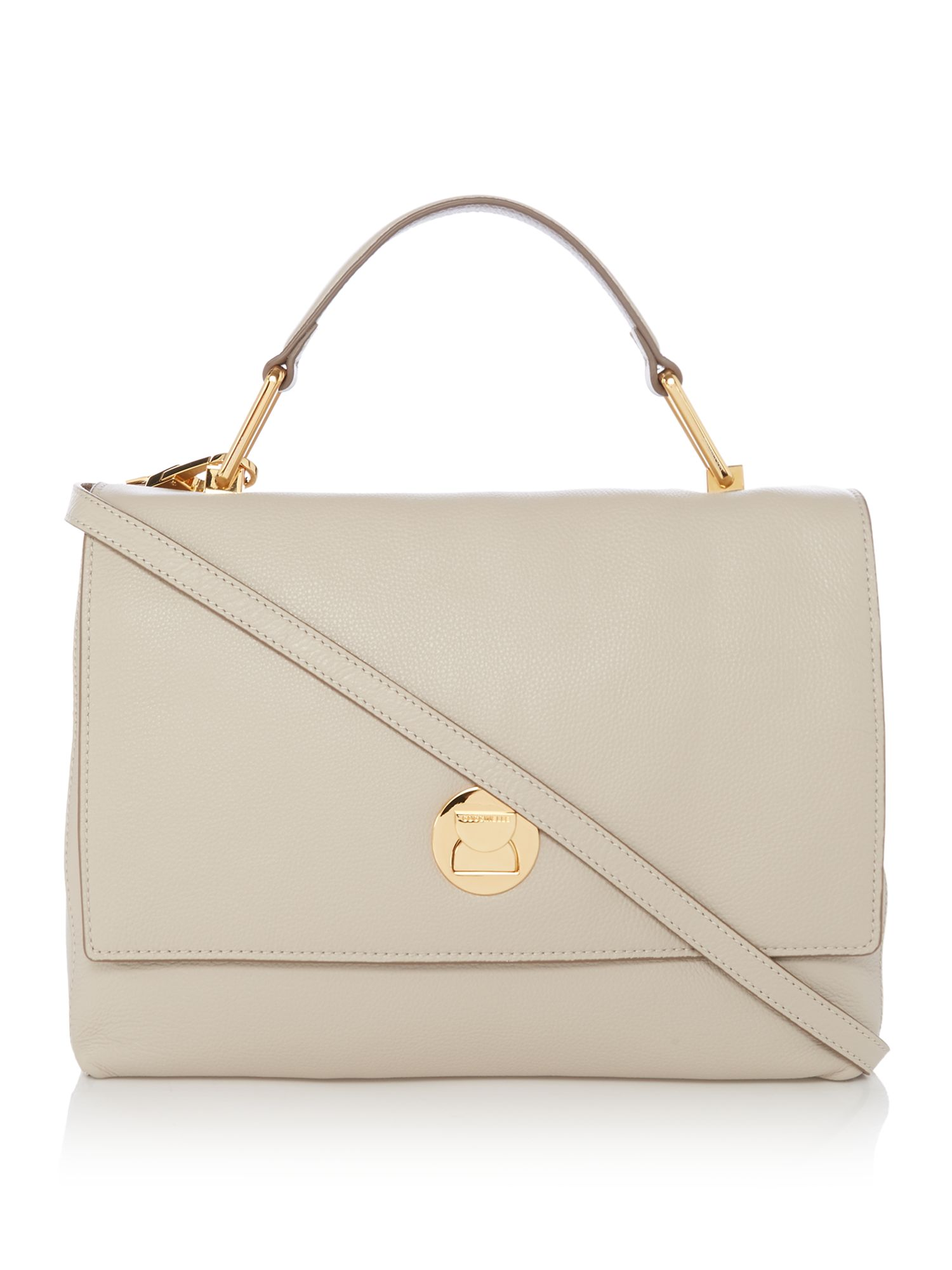 Coccinelle Liya medium flap over tote, Neutral