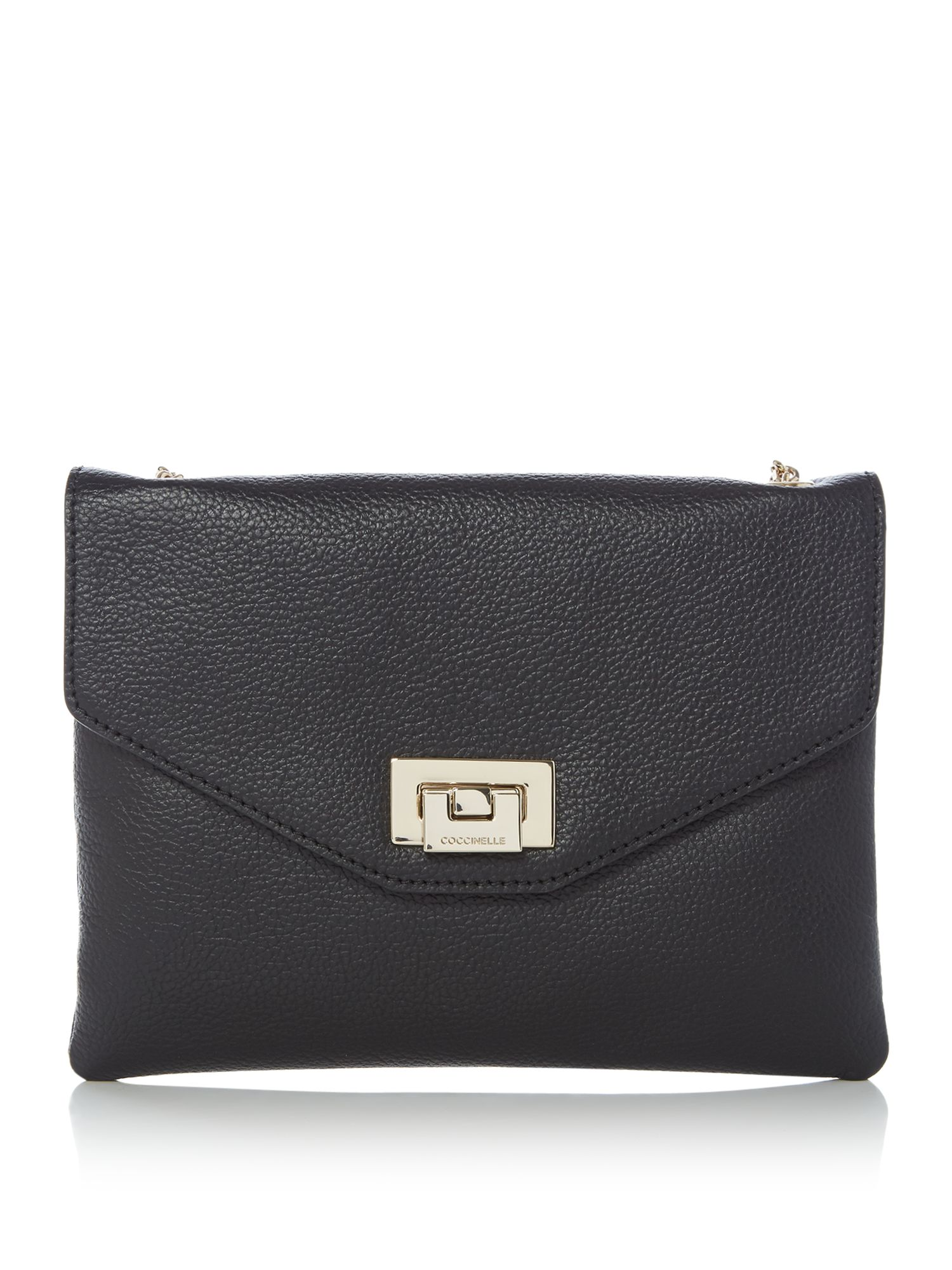 Coccinelle Florie clutch with chain strap, Black