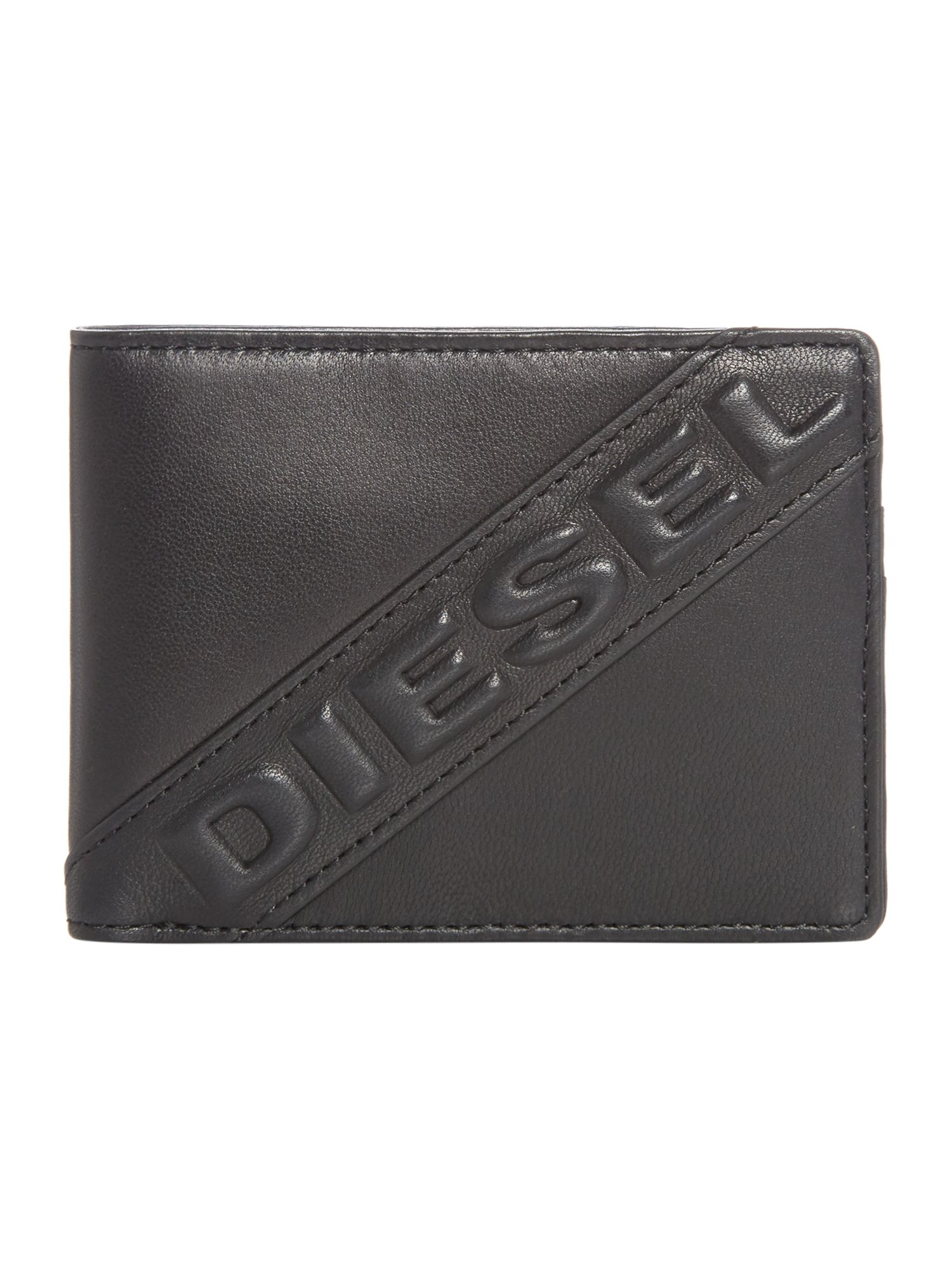 Diesel Embroided Logo Wallet, Black