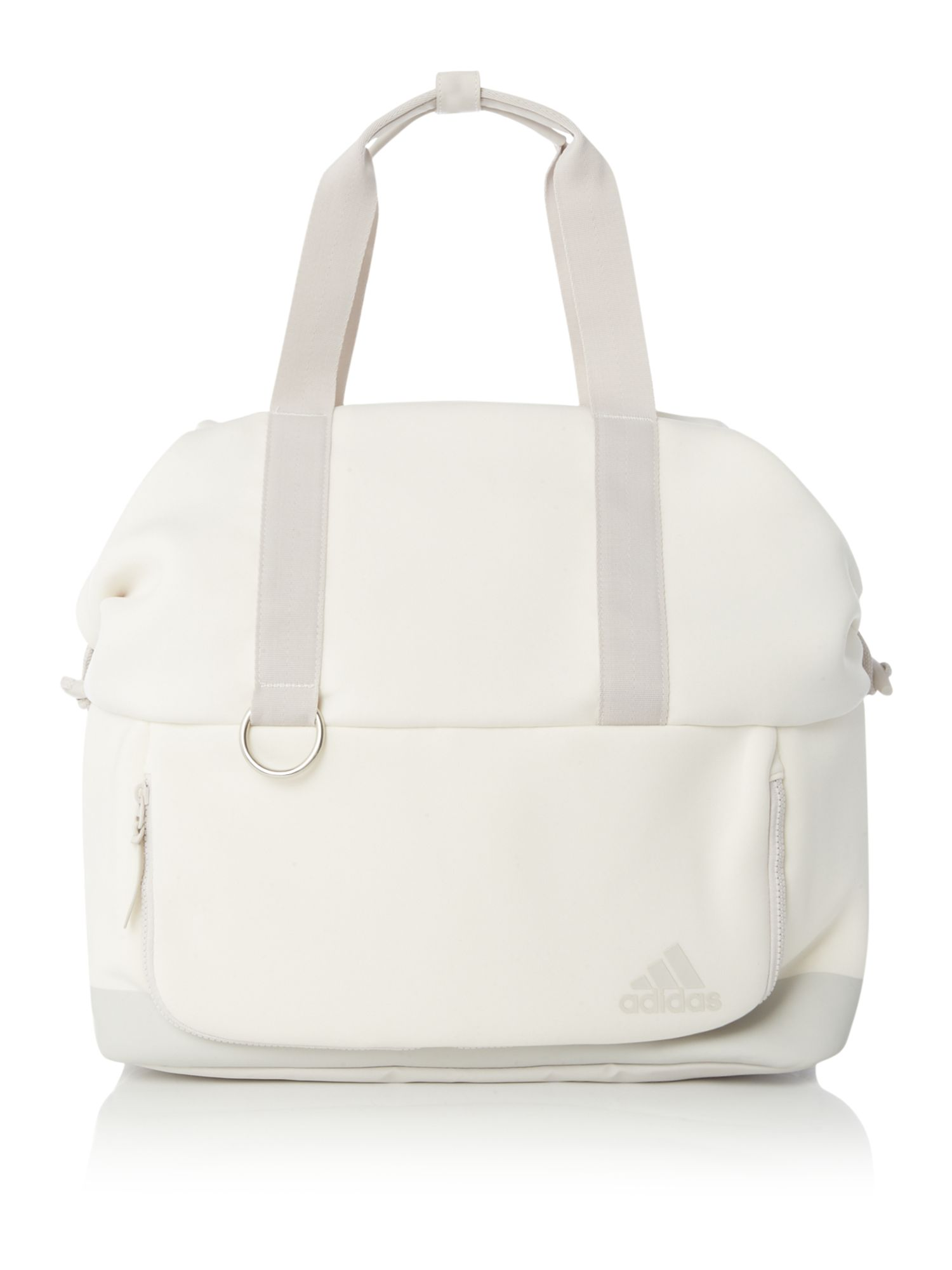 Adidas 3 way tote bag, Off White