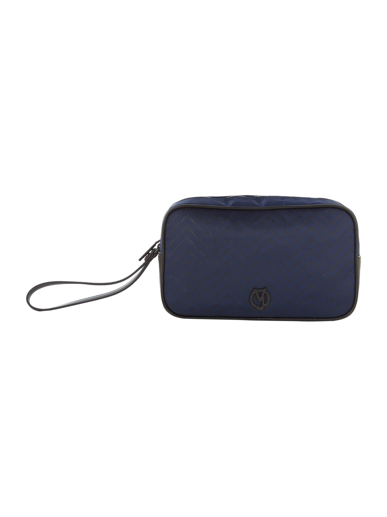 Versace Logo Washbag, Blue