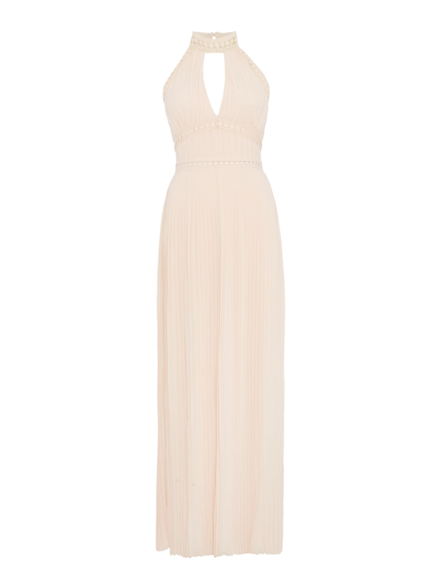tfnc Halter neck strappy maxi dress, Nude