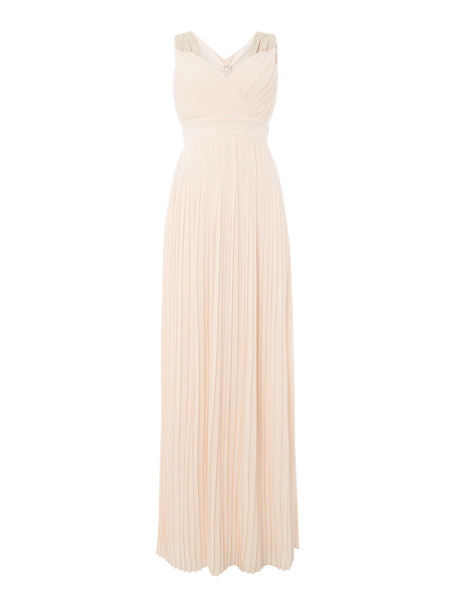 tfnc Sleeveless v neck dress, Nude