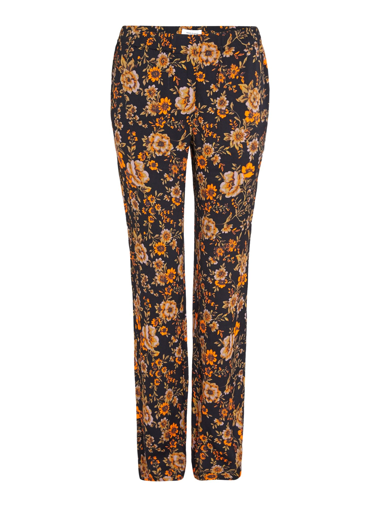 Samsoe and Samsoe Hoys dark floral straight pants, Black
