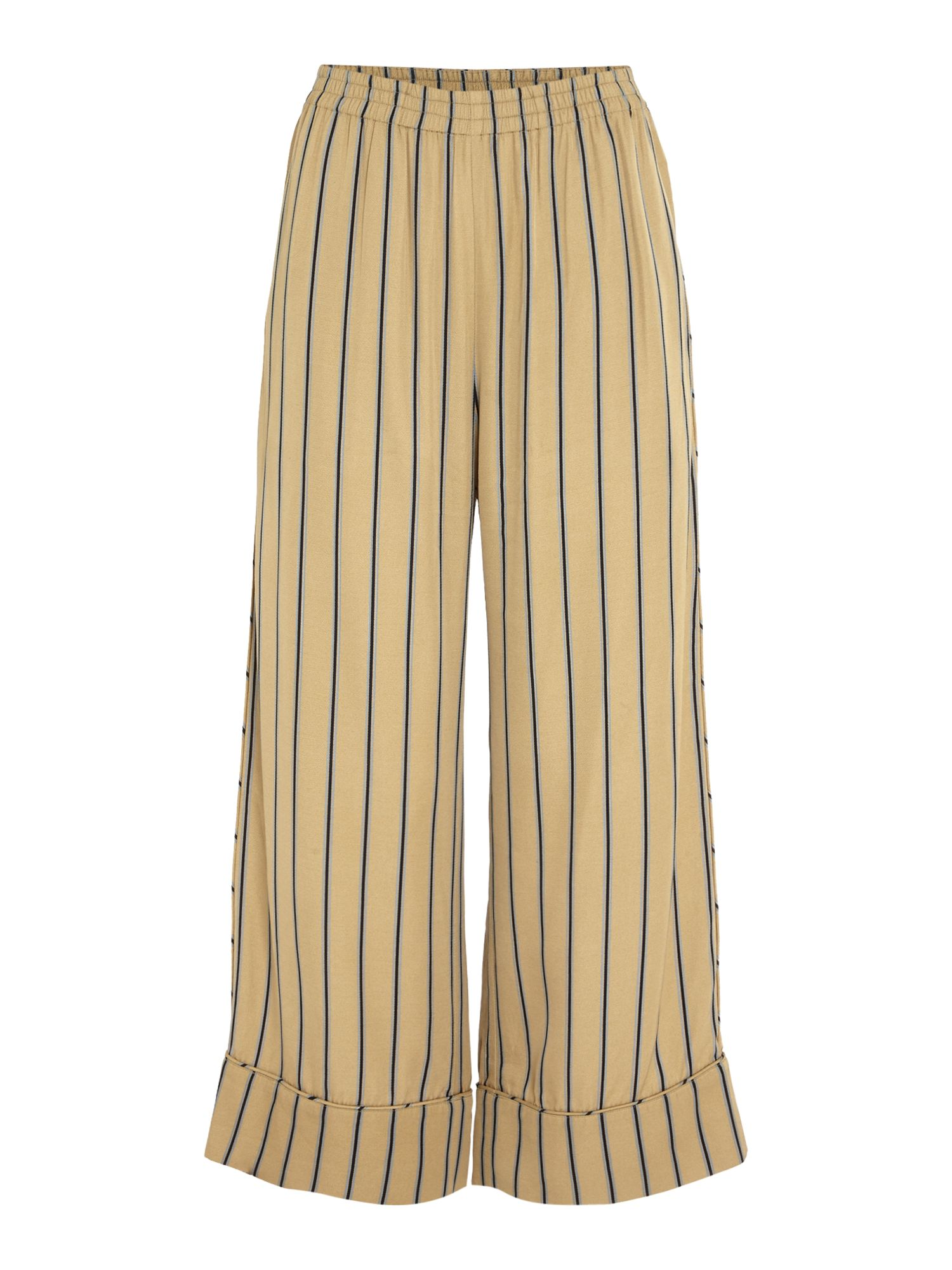 Samsoe and Samsoe Karri stripe wide leg trousers, Multi-Coloured