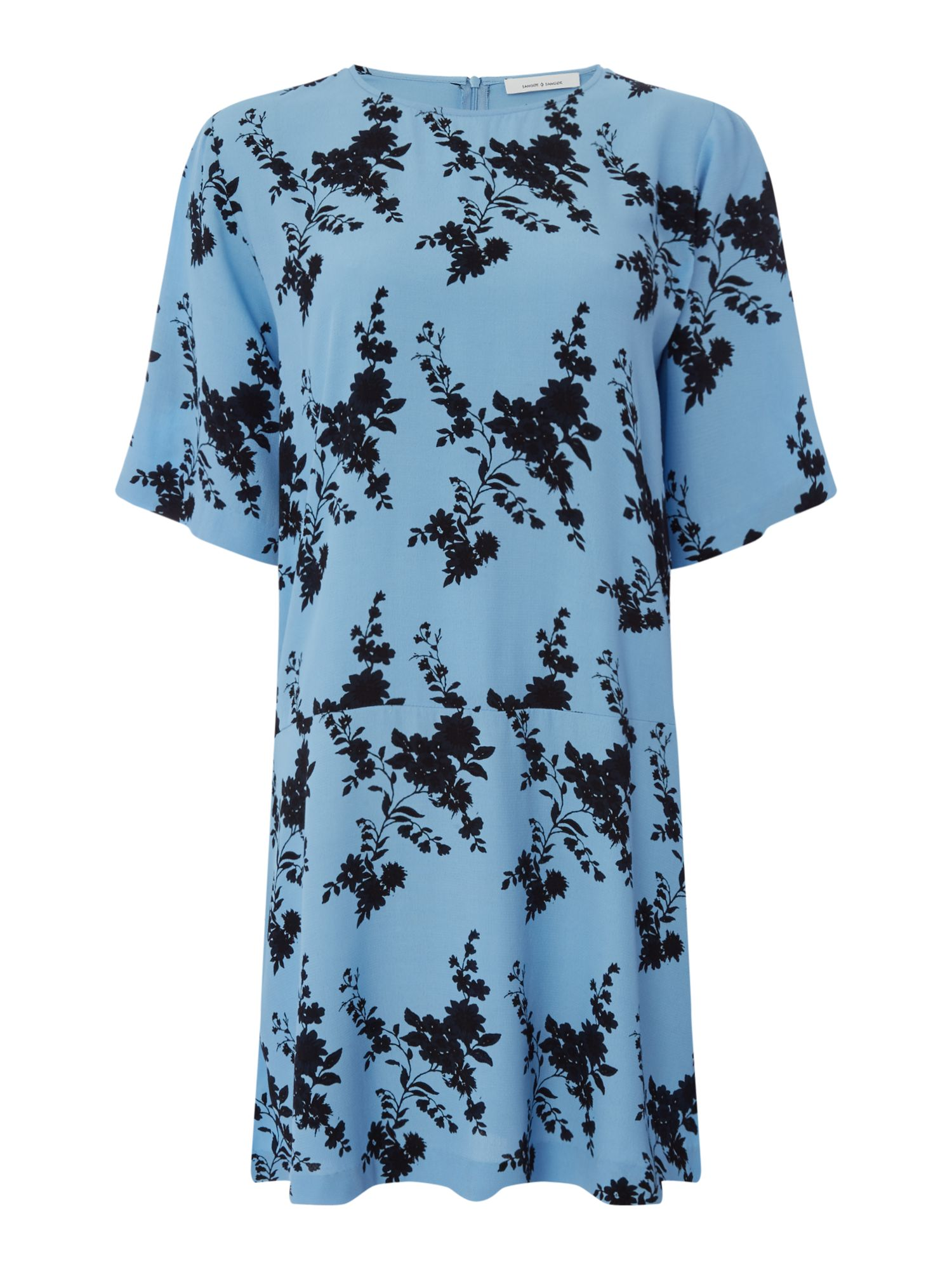 Samsoe and Samsoe Adelaide blue floral dress, Blue