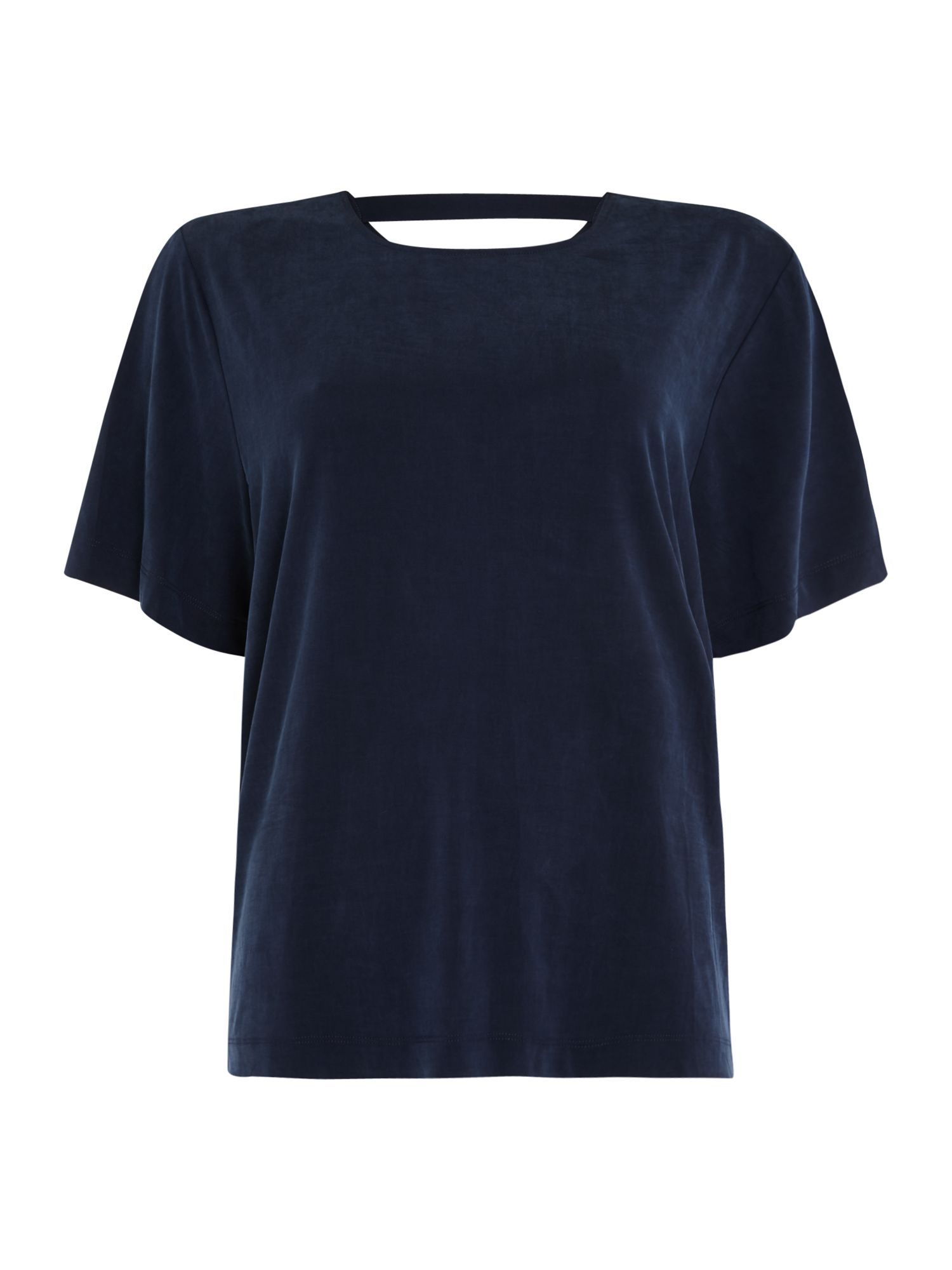 Samsoe and Samsoe Yoko cupro ss top, Blue