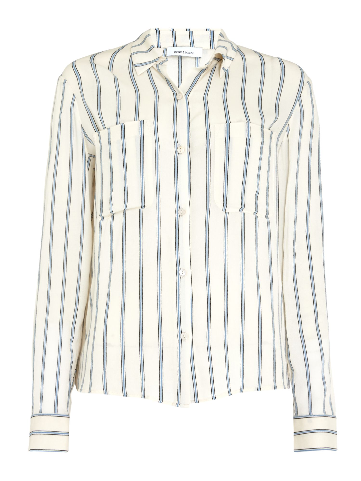 Samsoe and Samsoe Milly Stripe Shirt, Multi-Coloured