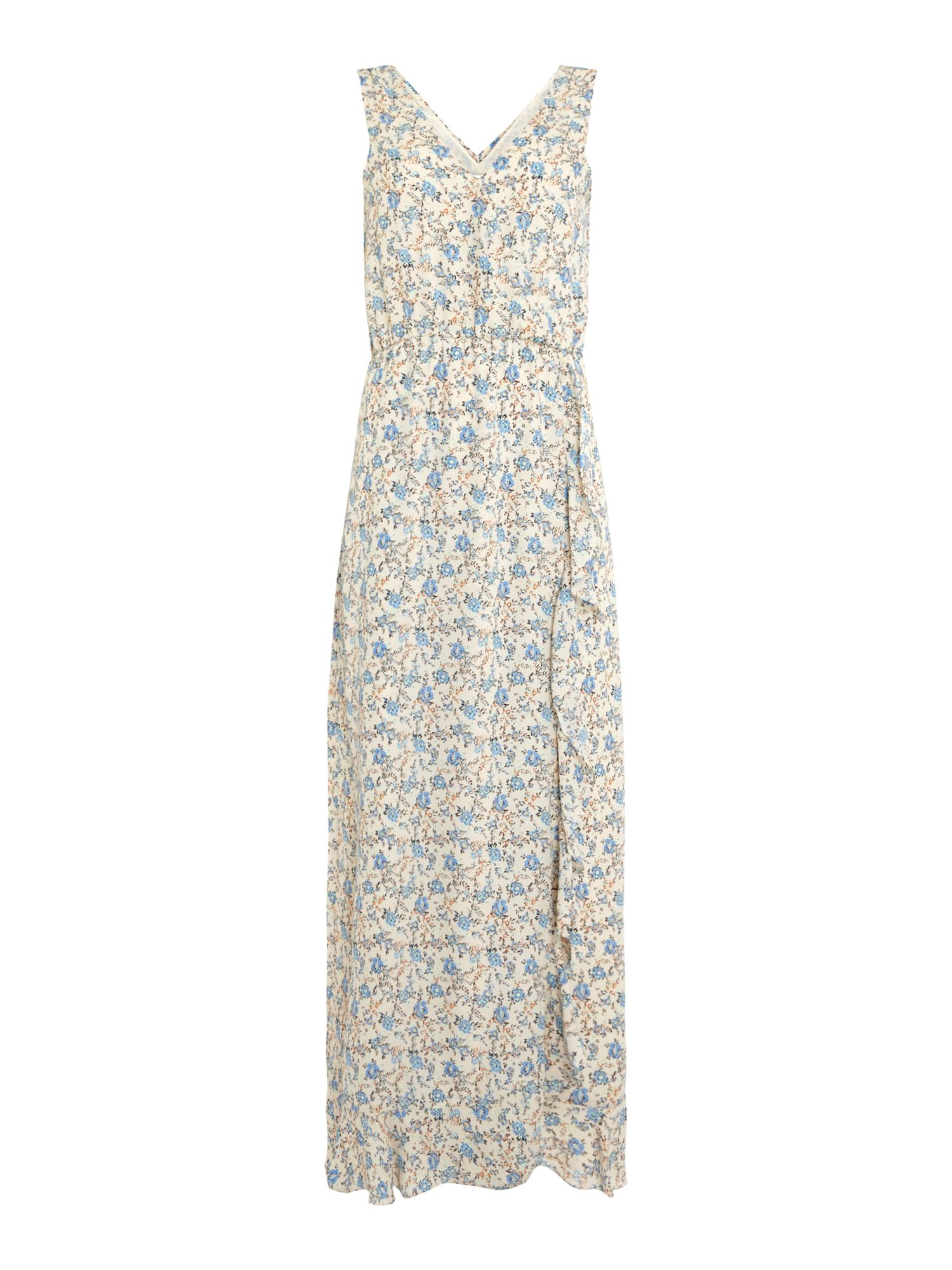 Samsoe and Samsoe Limon ditsy floral maxi dress, Lemon