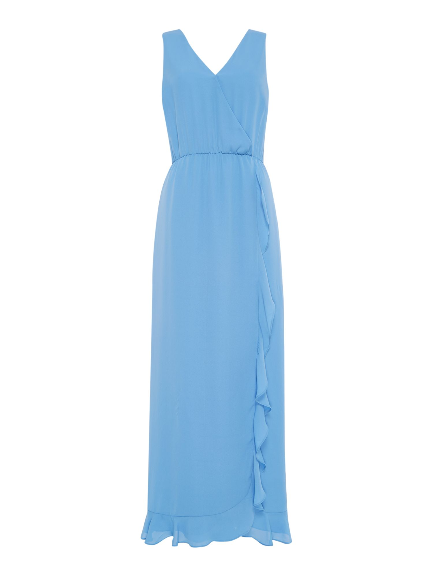 Samsoe and Samsoe Limon plain maxi dress, Blue