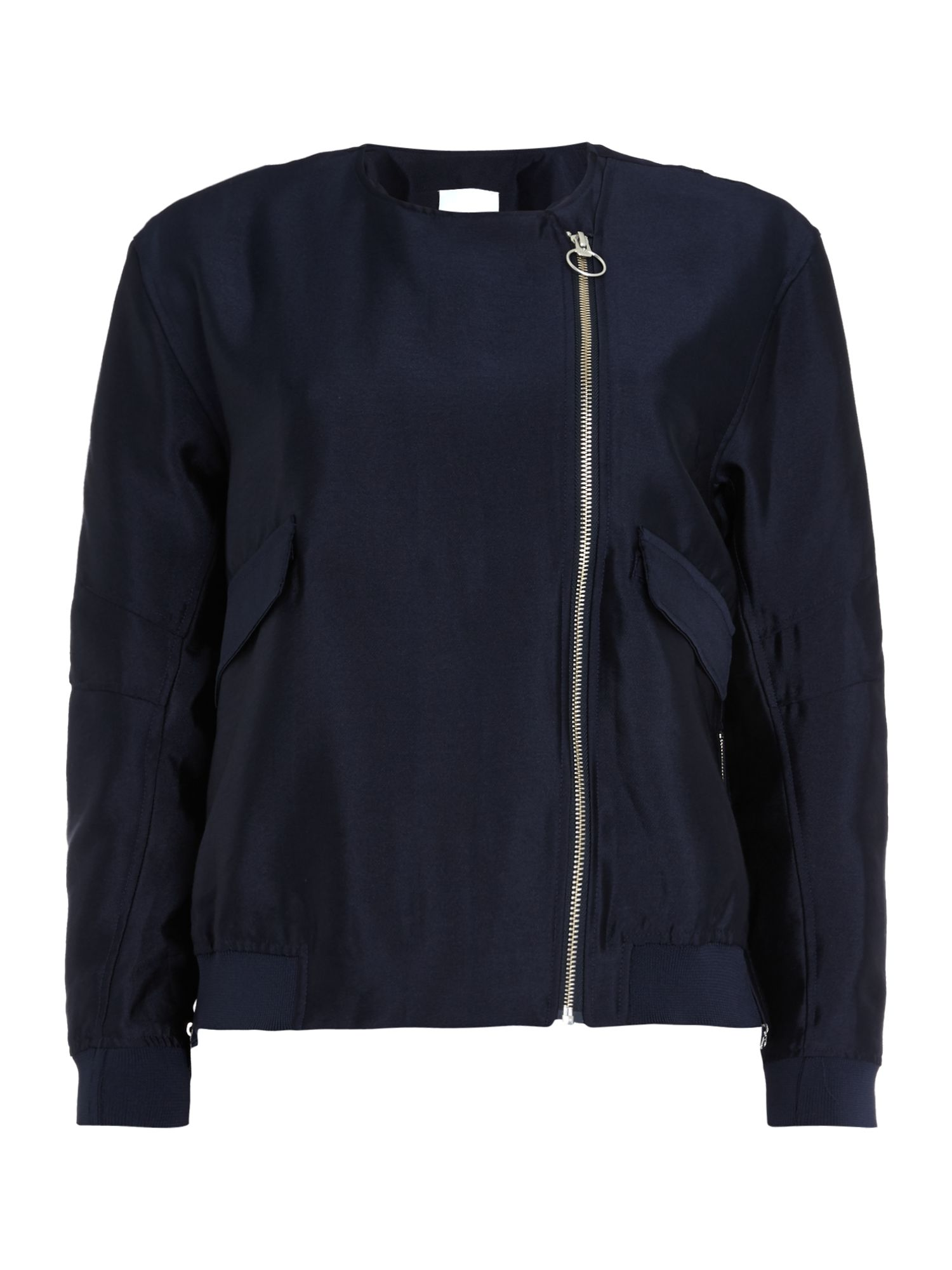Samsoe and Samsoe Brier zip up jacket, Blue