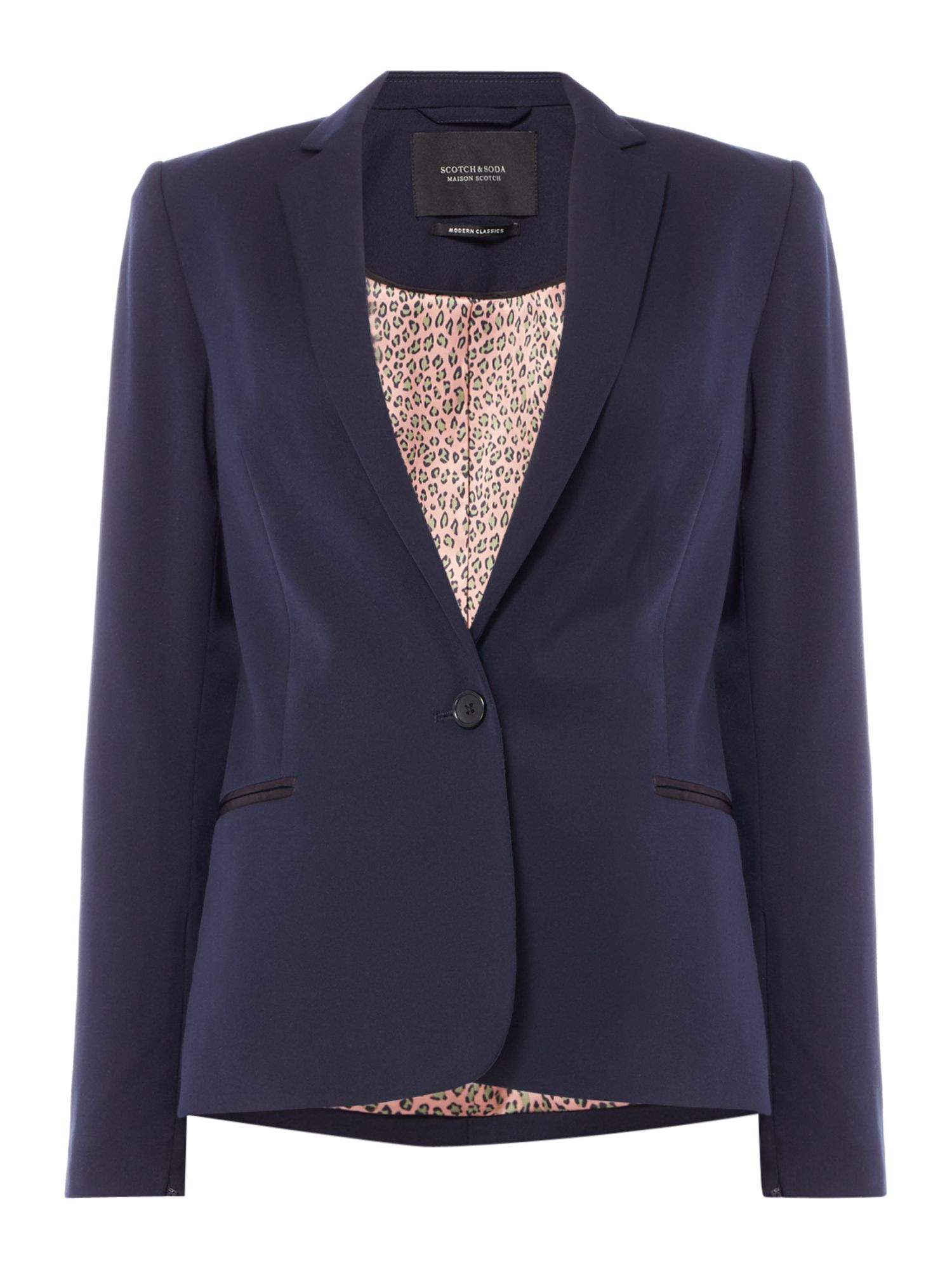Maison Scotch Blazer with zip detail, Blue