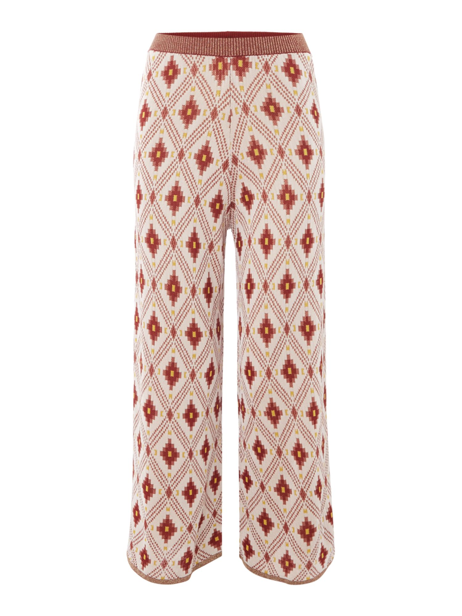 Maison Scotch Jacquard knitted pants, Multi-Coloured