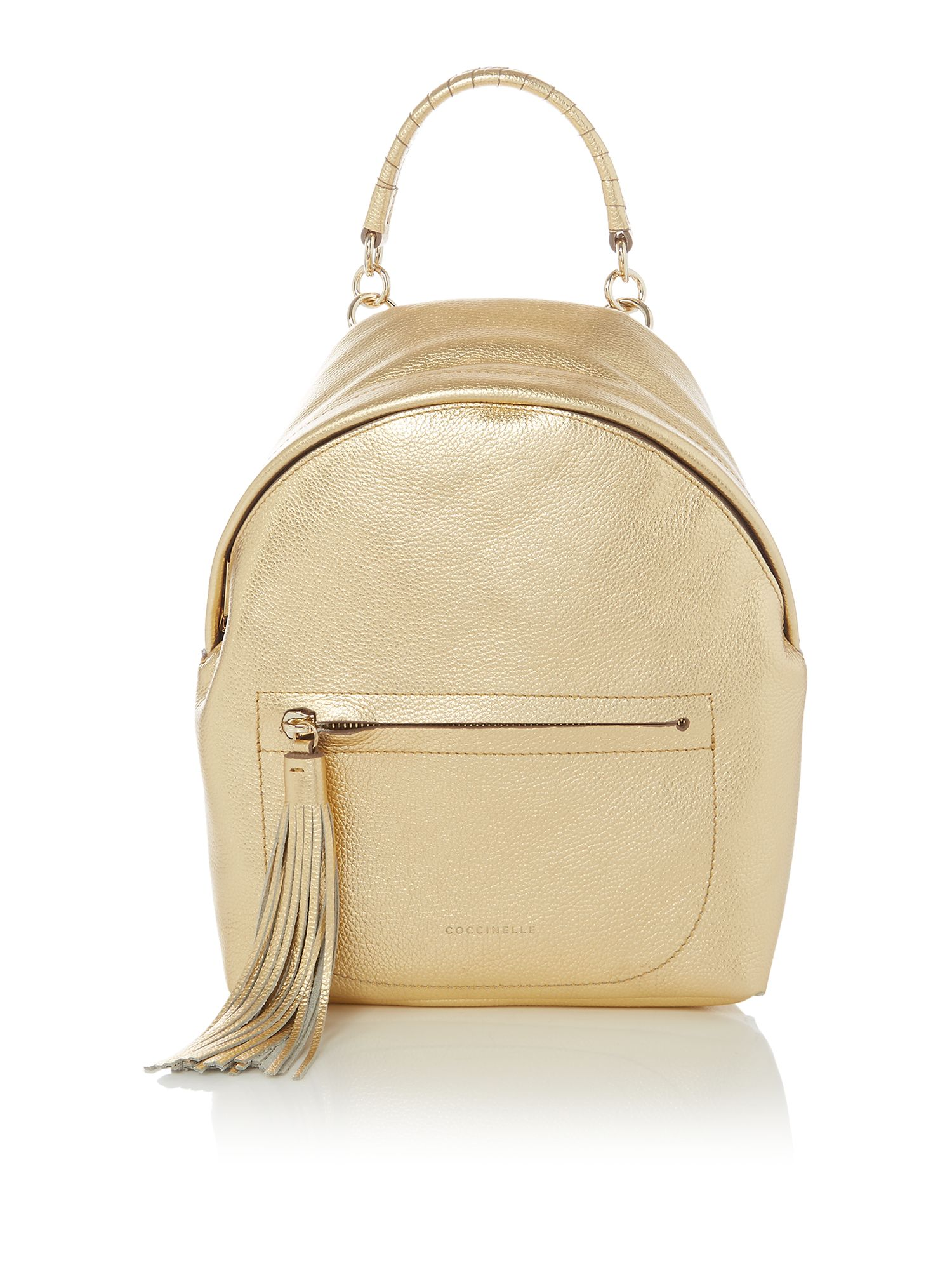 Coccinelle Leonie tassle backpack, Gold