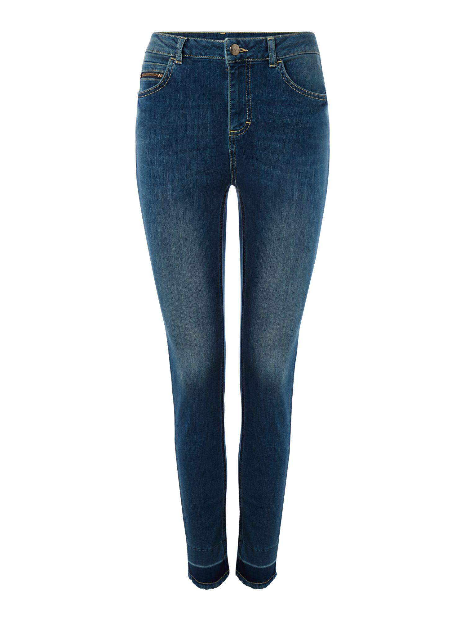 Label Lab Monument undone hem jean, Blue