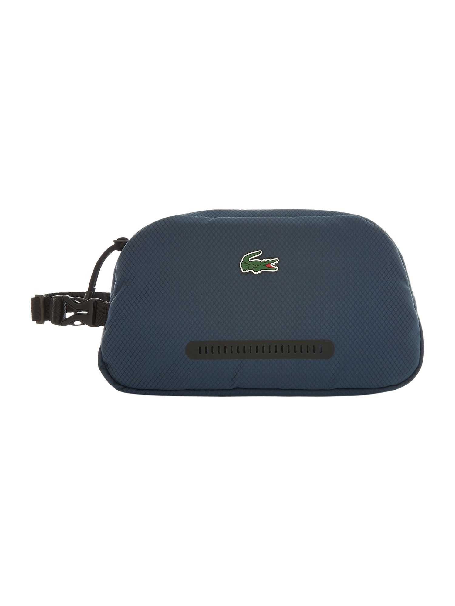 Lacoste Front Zip Small Washbag, Black