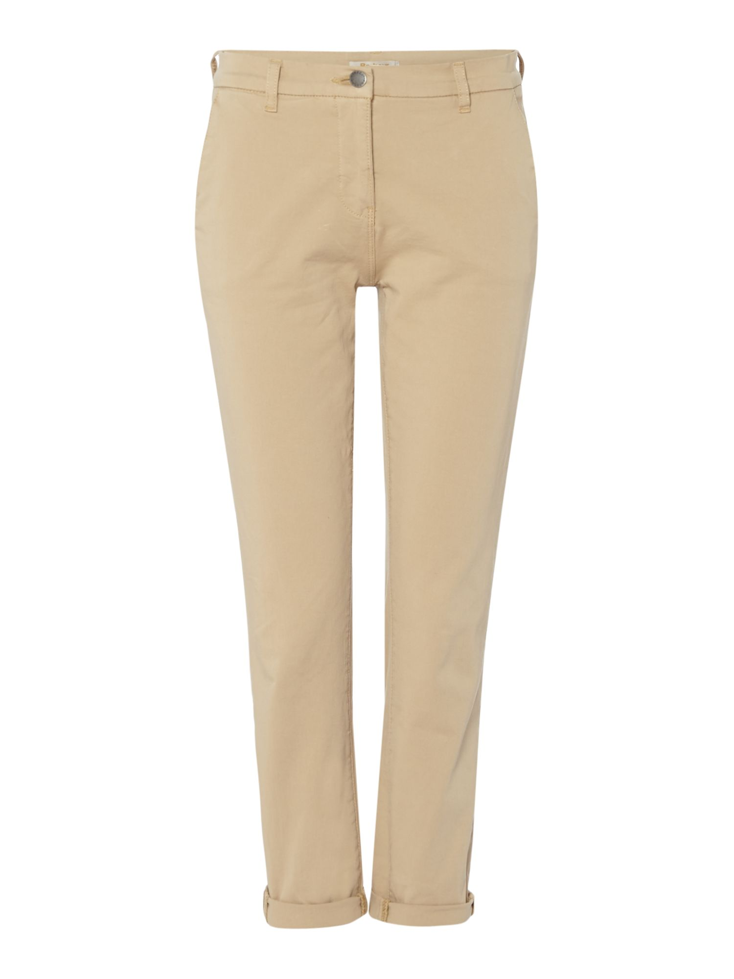 Barbour Cropped Turn Up Eiko Chino Trousers, Stone