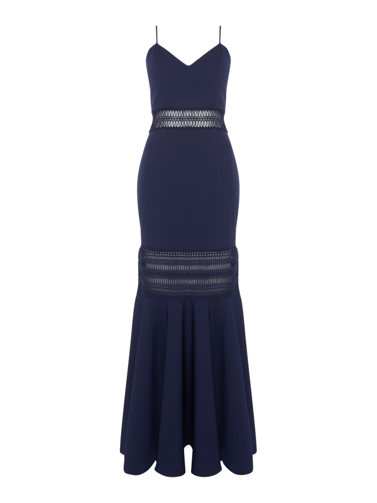 Jarlo Strappy mesh clarity gown, Blue