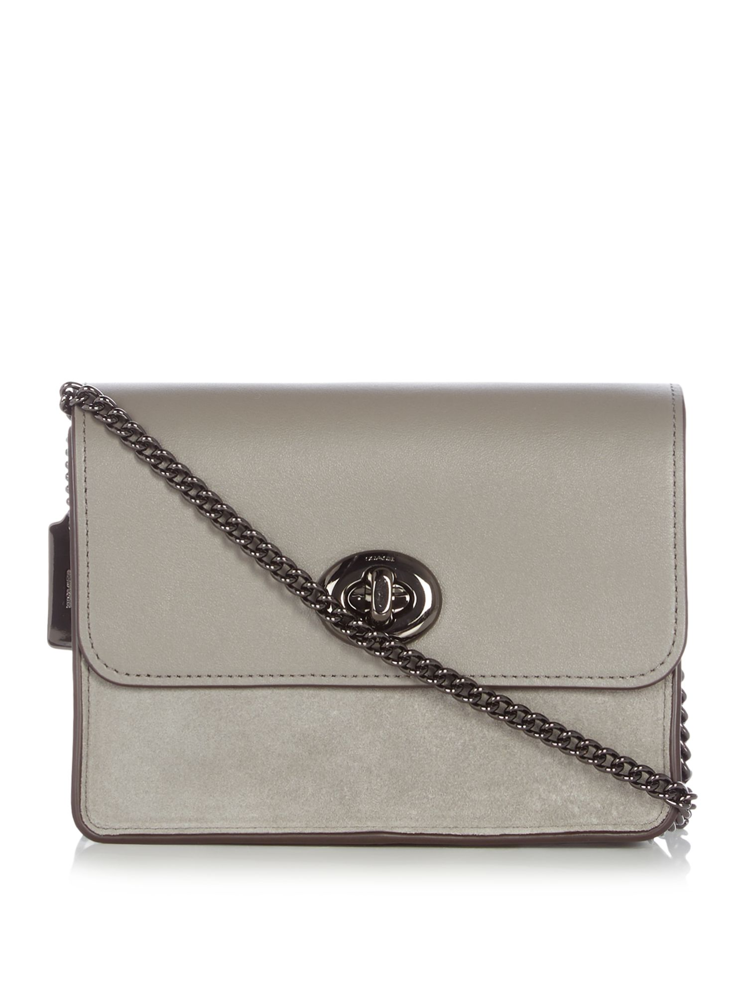 Coach Bowery suede crossbody bag, Grey