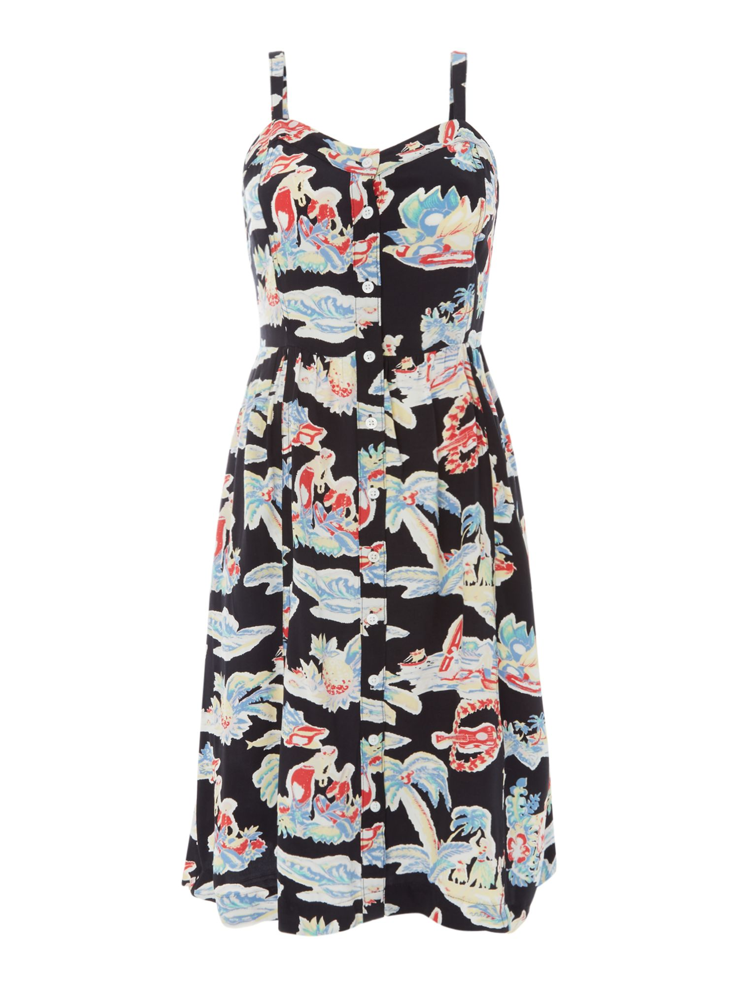 Levi's Graphic Printed Button up Dress, Multi-Coloured