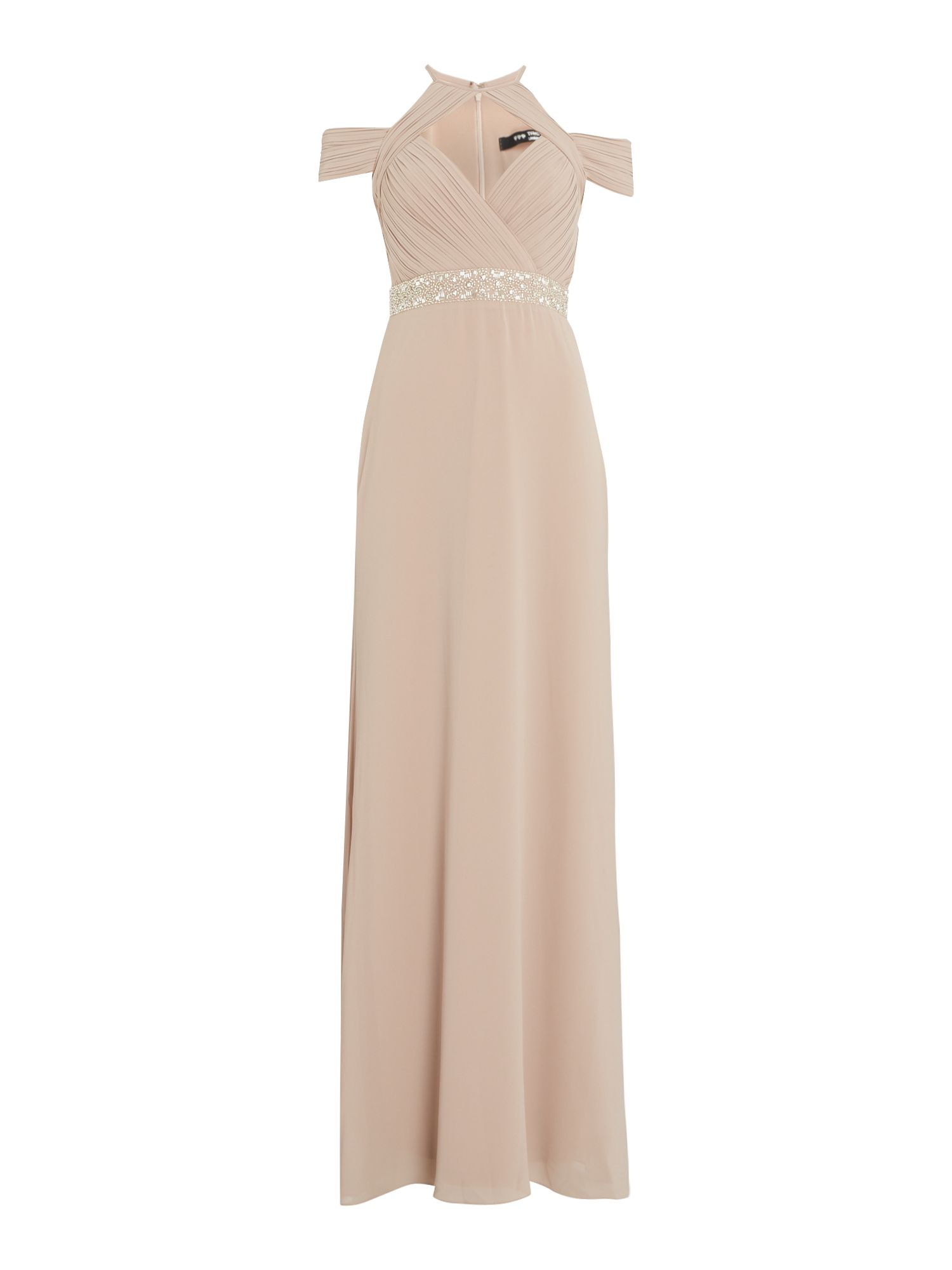 tfnc Frill cut out maxi dress, Mink